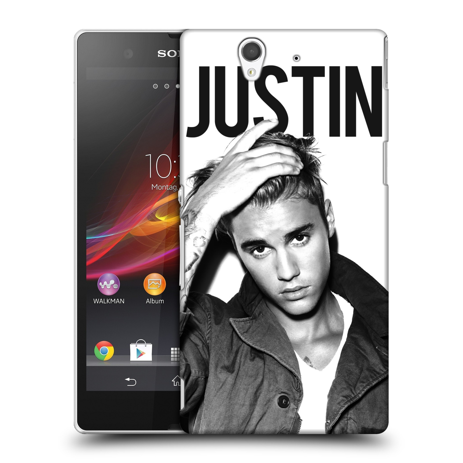 Plastové pouzdro na mobil Sony Xperia Z C6603 HEAD CASE Justin Bieber Official - Póza