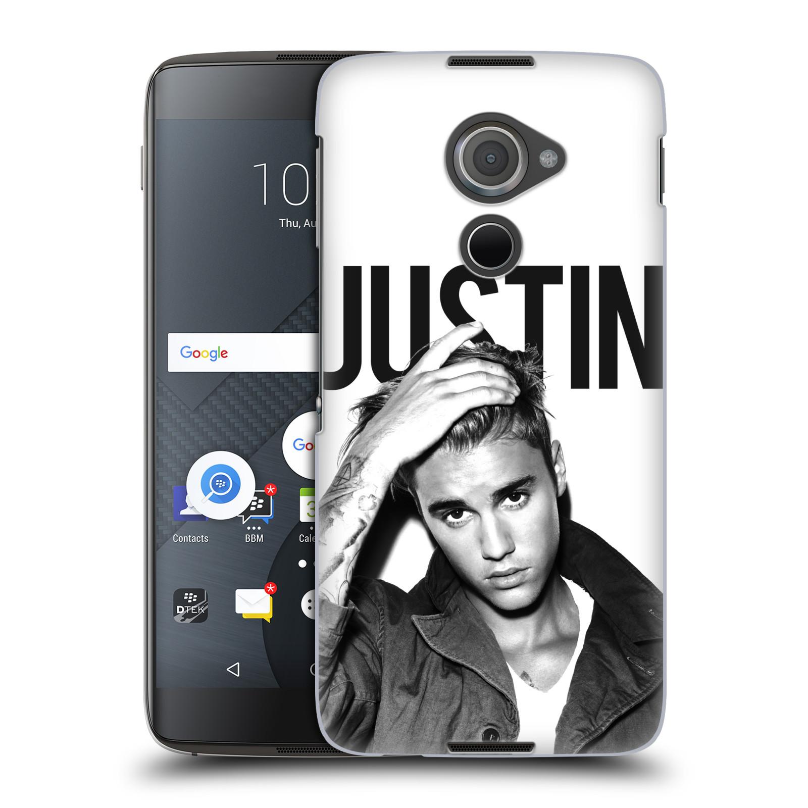 Plastové pouzdro na mobil Blackberry DTEK60 (Argon) - Head Case Justin Bieber Official - Póza