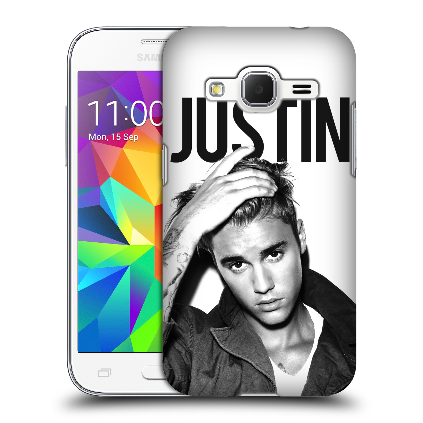 Plastové pouzdro na mobil Samsung Galaxy Core Prime VE HEAD CASE Justin Bieber Official - Póza