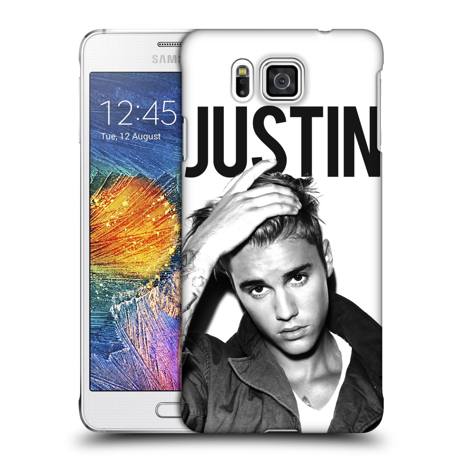 Plastové pouzdro na mobil Samsung Galaxy Alpha HEAD CASE Justin Bieber Official - Póza