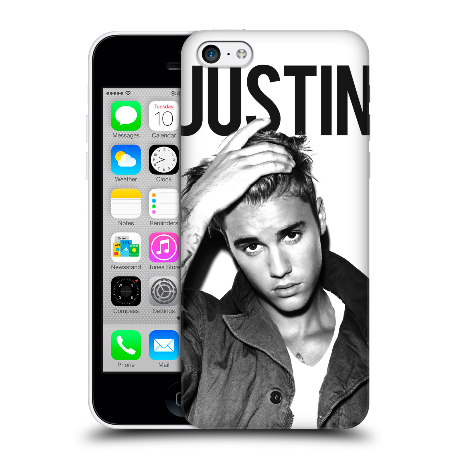 Plastové pouzdro na mobil Apple iPhone 5C HEAD CASE Justin Bieber Official - Póza