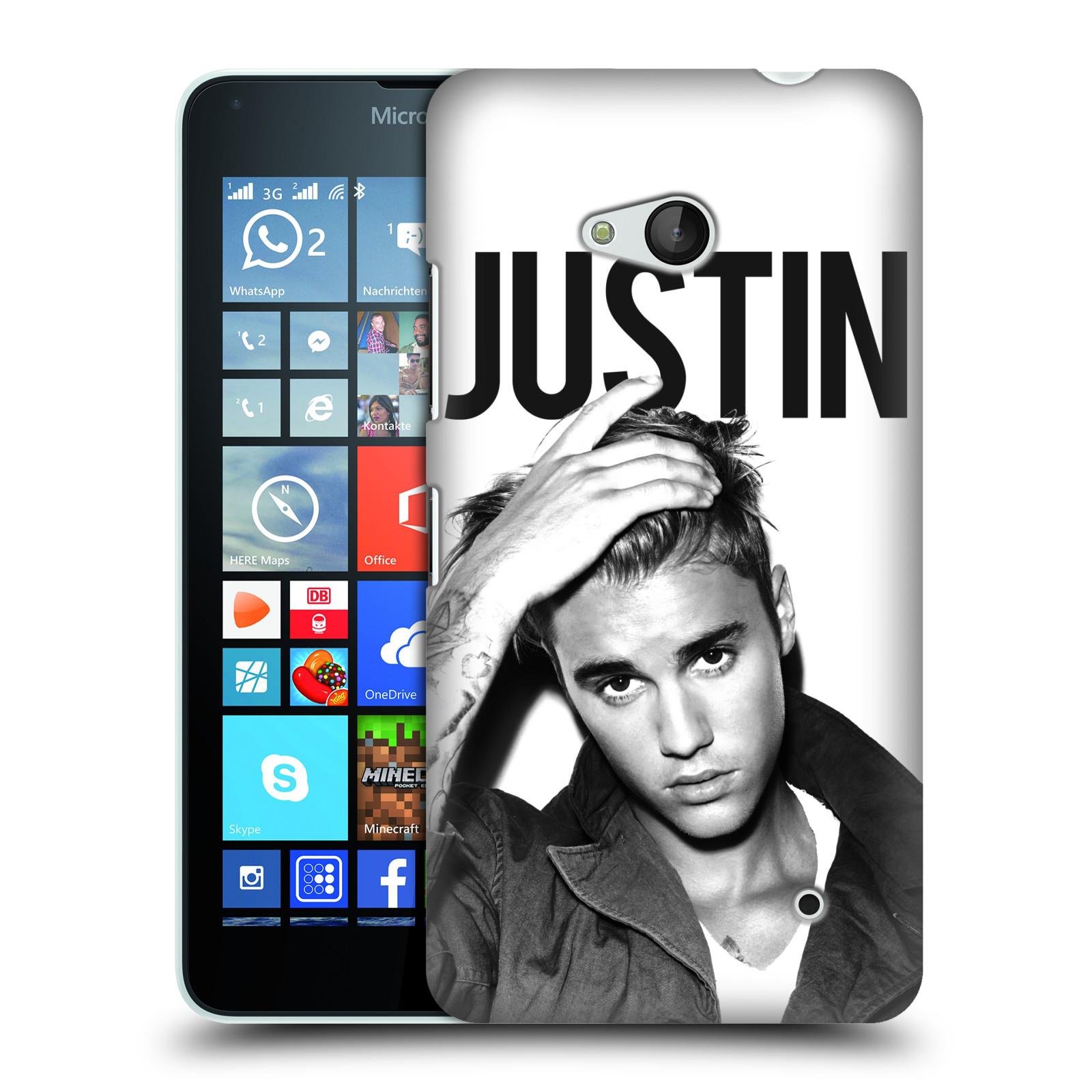 Plastové pouzdro na mobil Microsoft Lumia 640 HEAD CASE Justin Bieber Official - Póza