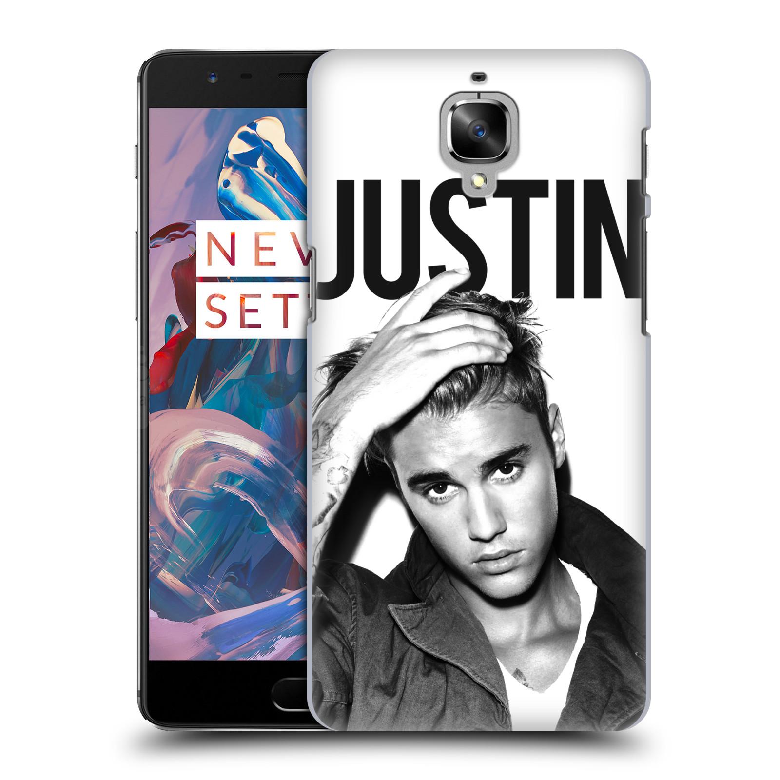 Plastové pouzdro na mobil OnePlus 3 HEAD CASE Justin Bieber Official - Póza (Plastový kryt či obal na mobilní telefon s licencovaným motivem Justin Bieber pro OnePlus 3 / Three)