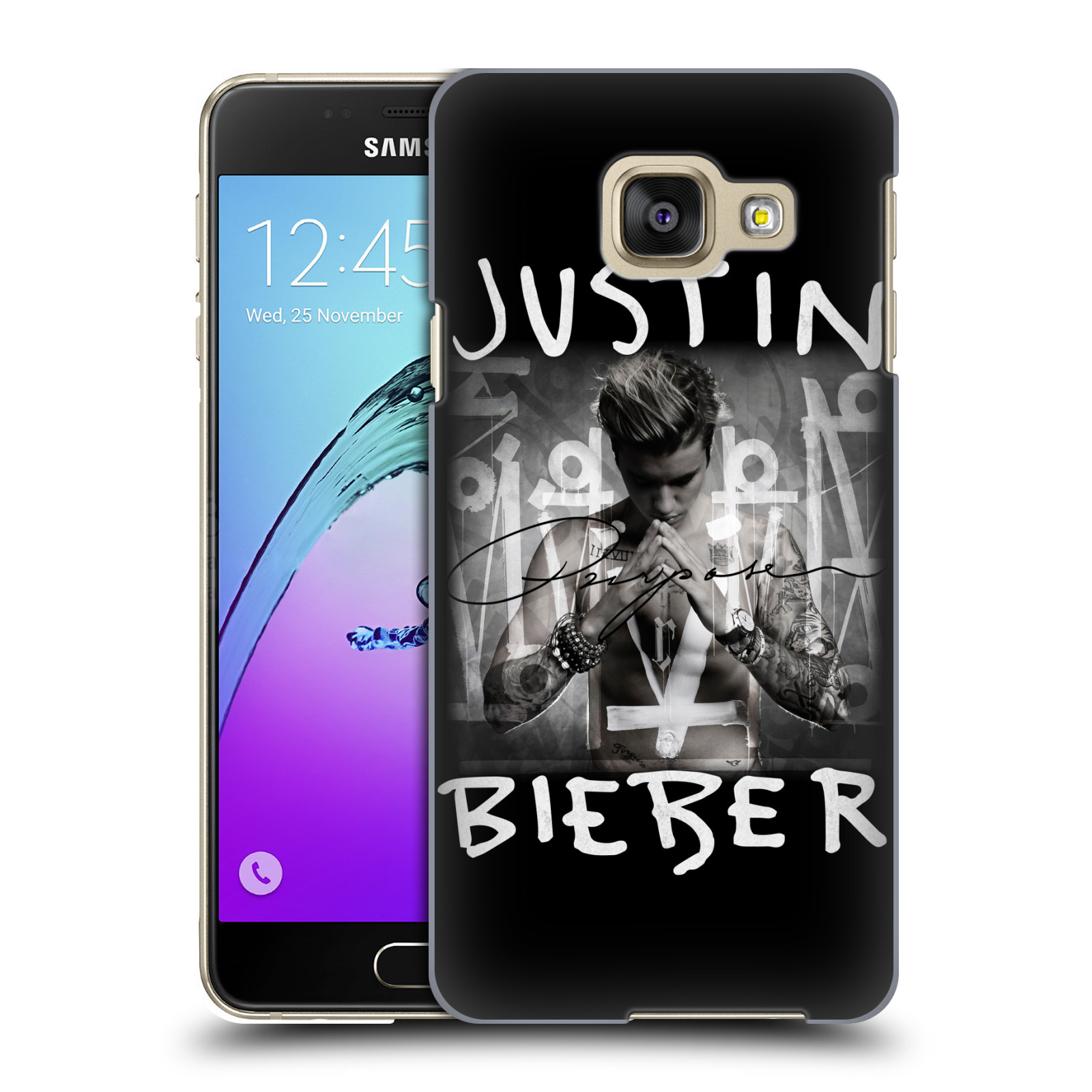 Plastové pouzdro na mobil Samsung Galaxy A3 (2016) HEAD CASE Justin Bieber Official - Purpose