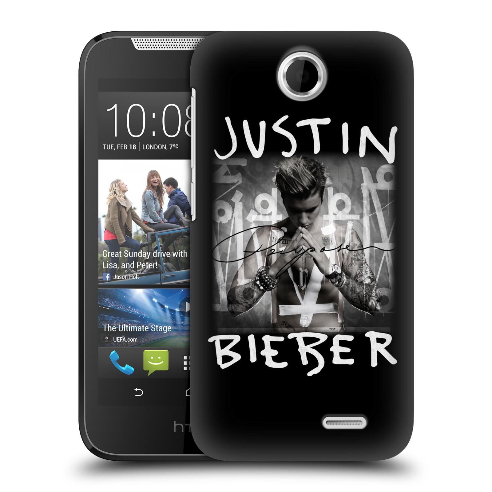 Plastové pouzdro na mobil HTC Desire 310 HEAD CASE Justin Bieber Official - Purpose (Kryt či obal na mobilní telefon s licencovaným motivem Justin Bieber pro HTC Desire 310)