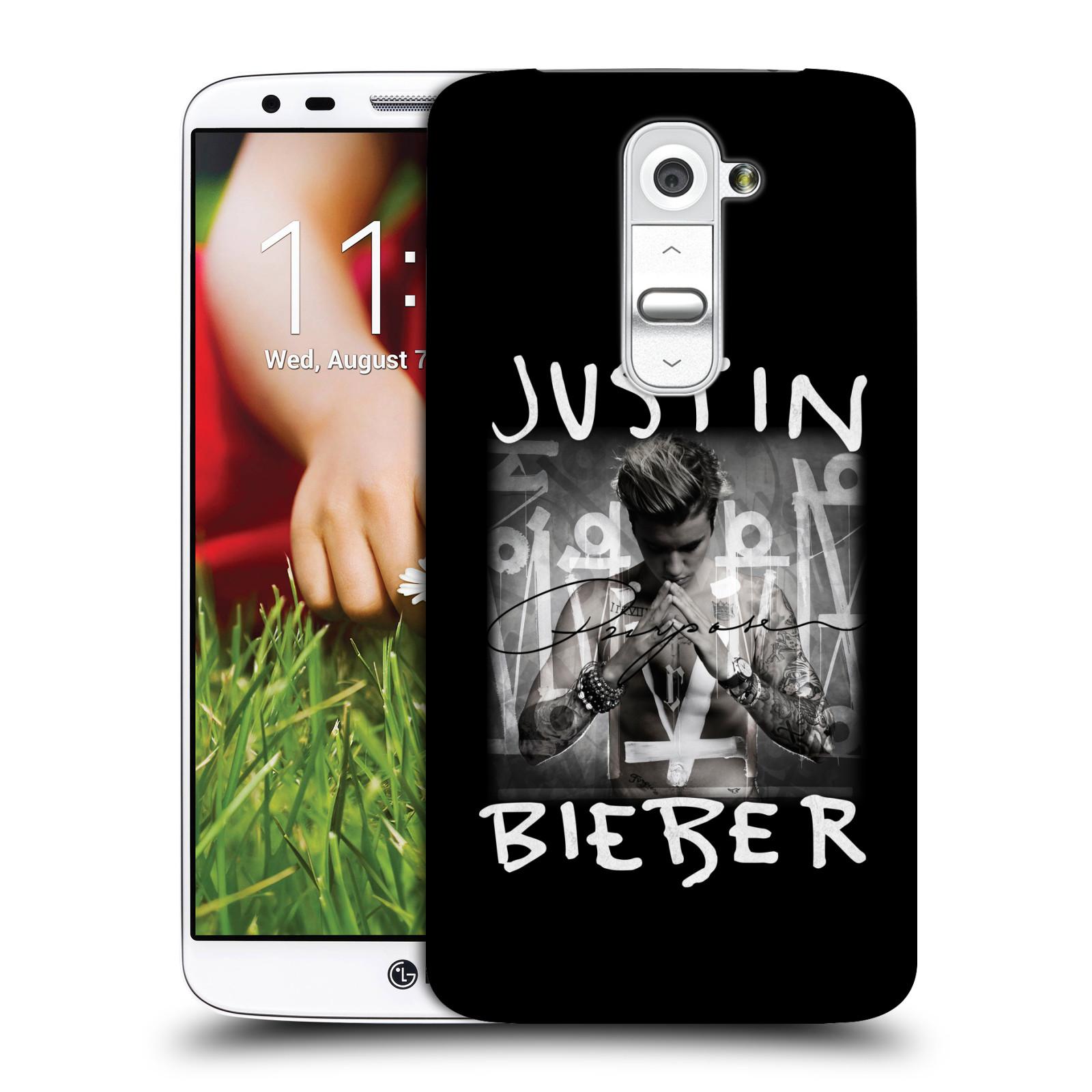 Plastové pouzdro na mobil LG G2 HEAD CASE Justin Bieber Official - Purpose (Kryt či obal na mobilní telefon s licencovaným motivem Justin Bieber pro LG G2)