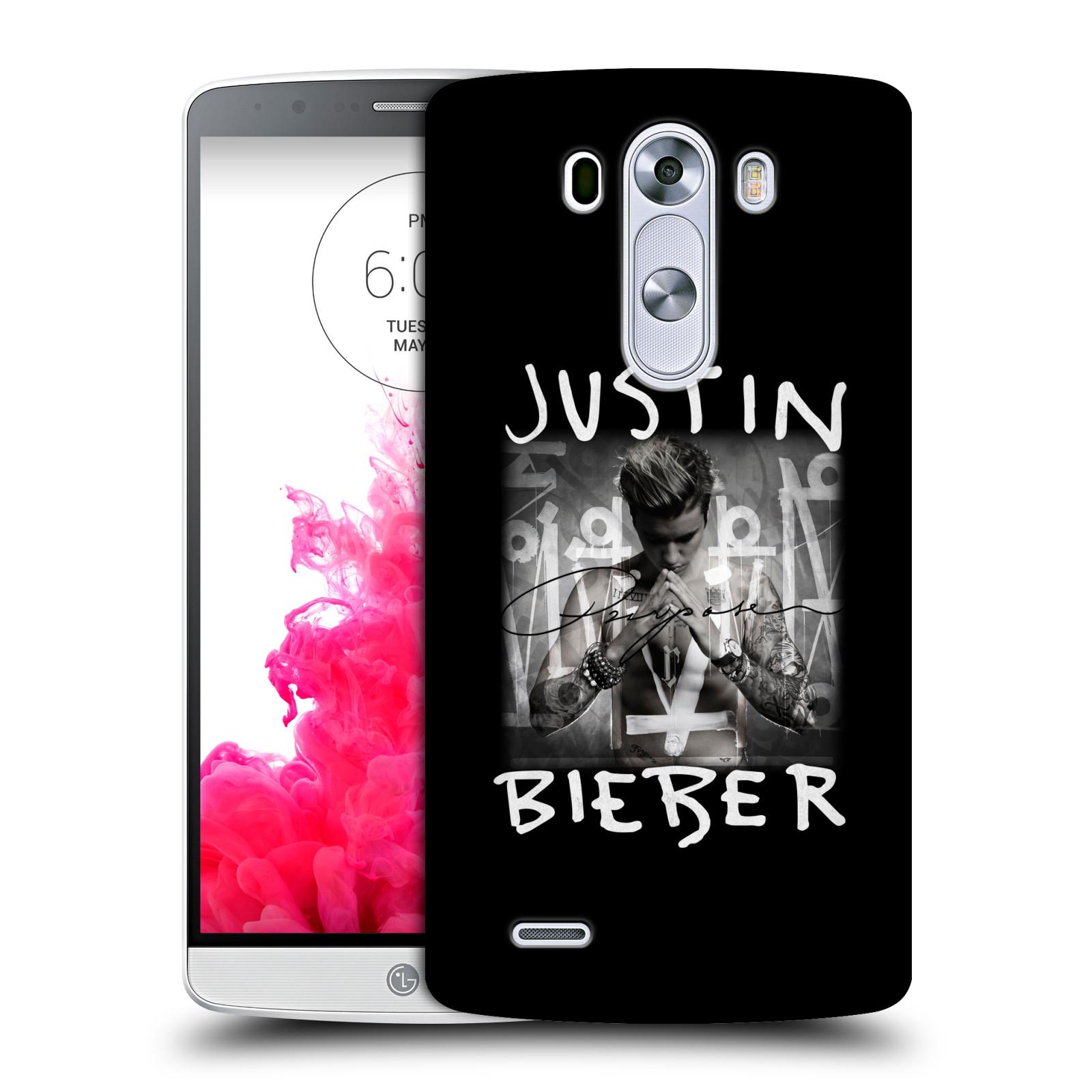 Plastové pouzdro na mobil LG G3 HEAD CASE Justin Bieber Official - Purpose (Kryt či obal na mobilní telefon s licencovaným motivem Justin Bieber pro LG G3)