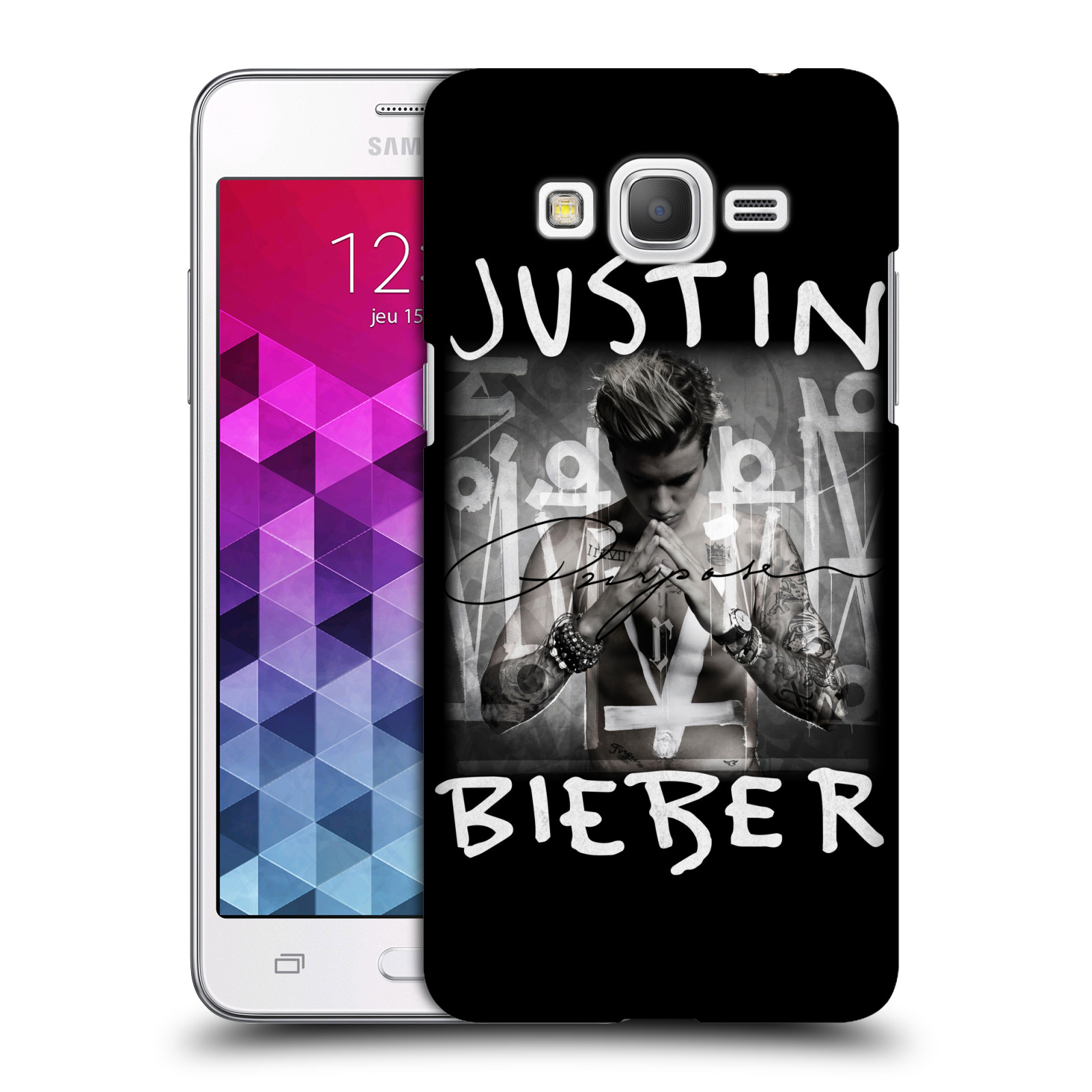 Plastové pouzdro na mobil Samsung Galaxy Grand Prime VE HEAD CASE Justin Bieber Official - Purpose