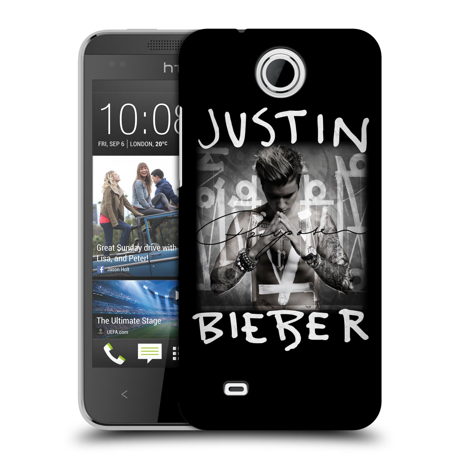 Plastové pouzdro na mobil HTC Desire 300 HEAD CASE Justin Bieber Official - Purpose (Kryt či obal na mobilní telefon s licencovaným motivem Justin Bieber pro HTC Desire 300)