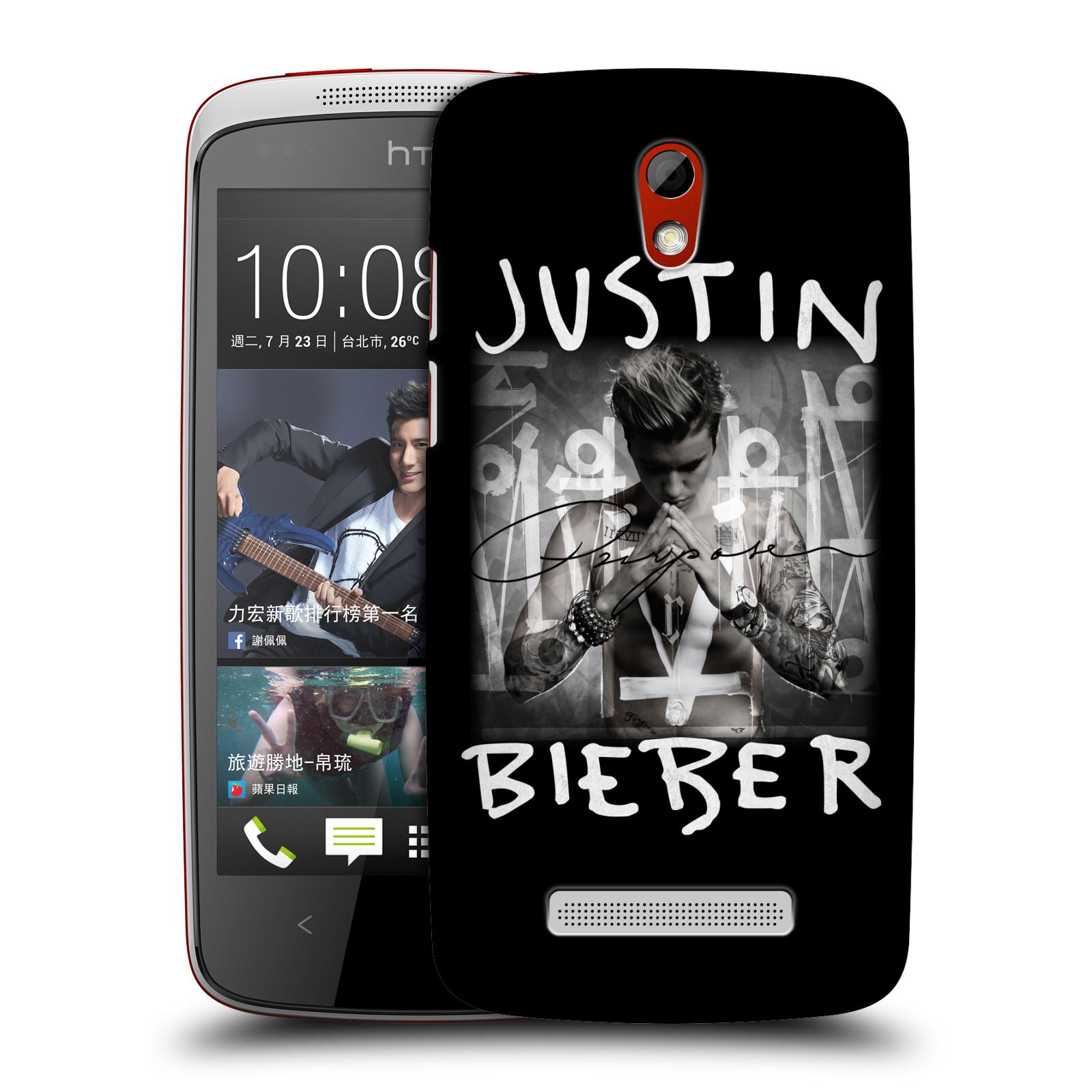 Plastové pouzdro na mobil HTC Desire 500 HEAD CASE Justin Bieber Official - Purpose (Kryt či obal na mobilní telefon s licencovaným motivem Justin Bieber pro HTC Desire 500)