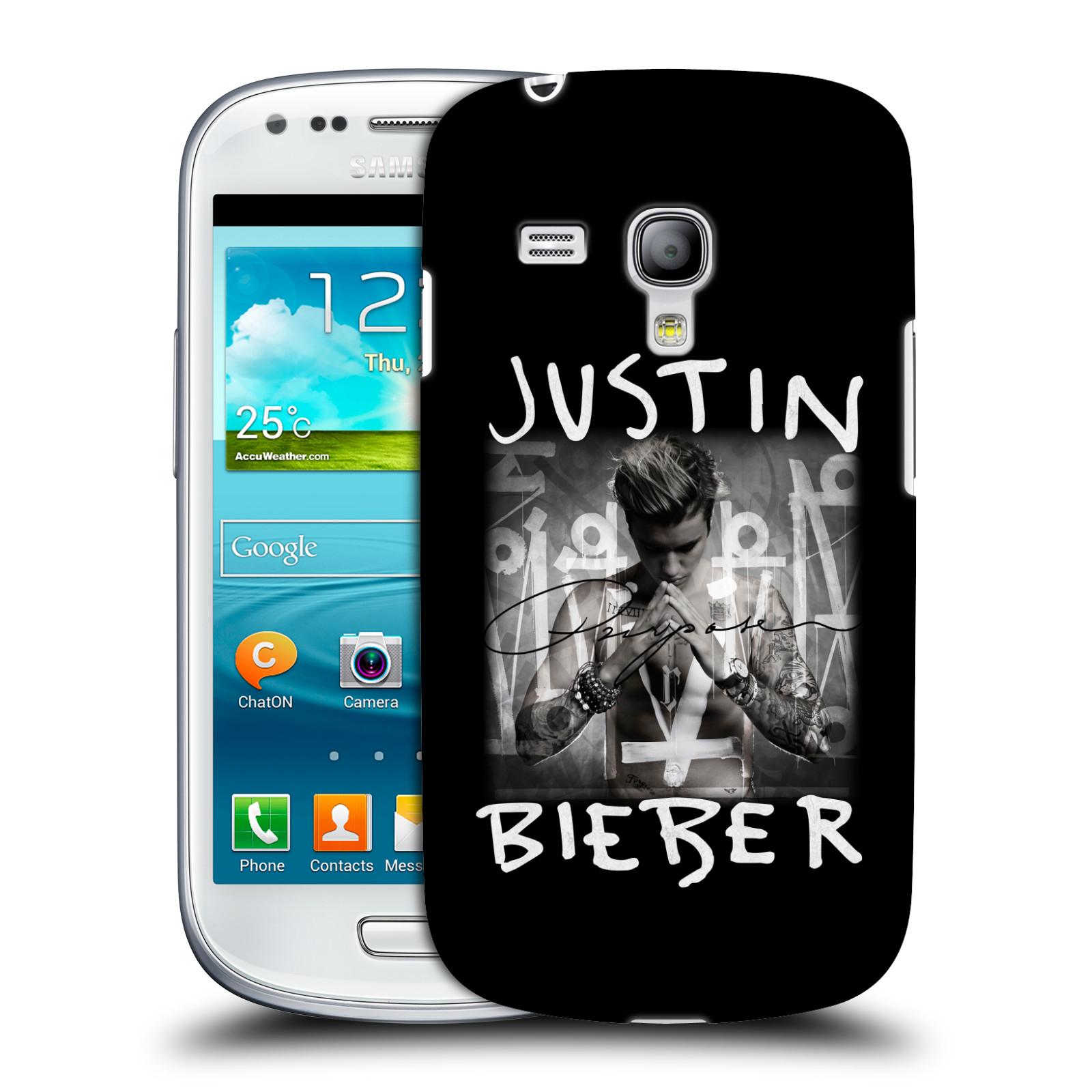 Plastové pouzdro na mobil Samsung Galaxy S III Mini VE HEAD CASE Justin Bieber Official - Purpose (Kryt či obal na mobilní telefon s licencovaným motivem Justin Bieber pro Samsung Galaxy S3 Mini VE GT-i8200)