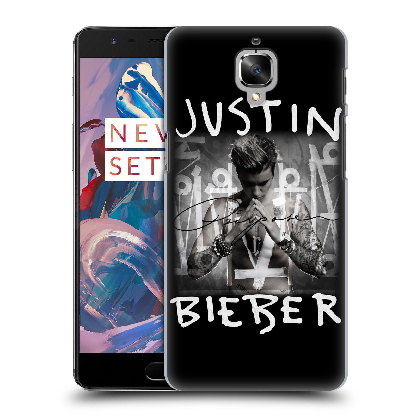 Plastové pouzdro na mobil OnePlus 3 HEAD CASE Justin Bieber Official - Purpose (Plastový kryt či obal na mobilní telefon s licencovaným motivem Justin Bieber pro OnePlus 3 / Three)