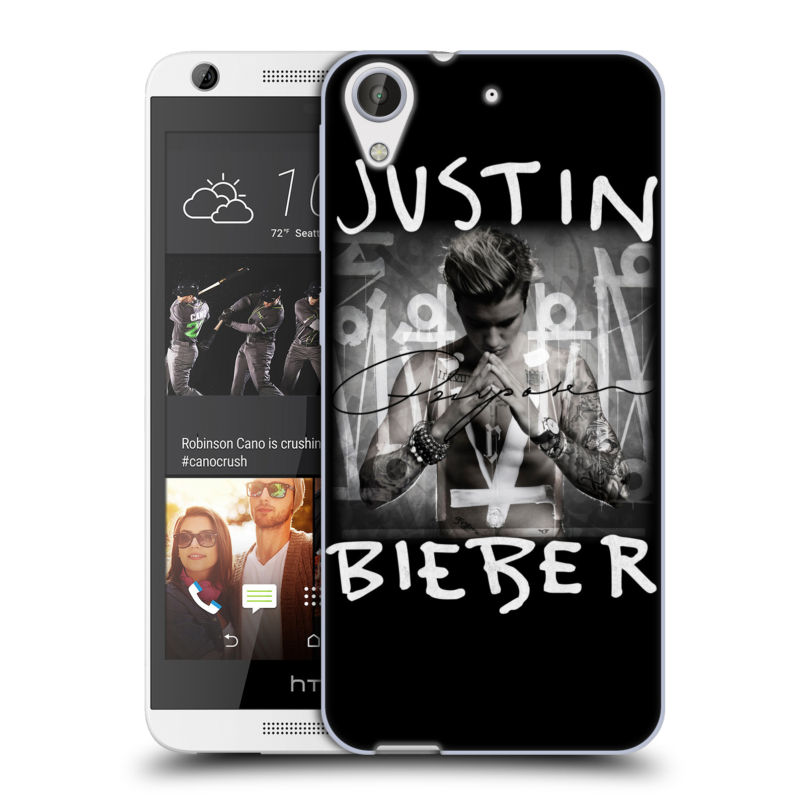 Silikonové pouzdro na mobil HTC Desire 626 / 626G HEAD CASE Justin Bieber Official - Purpose