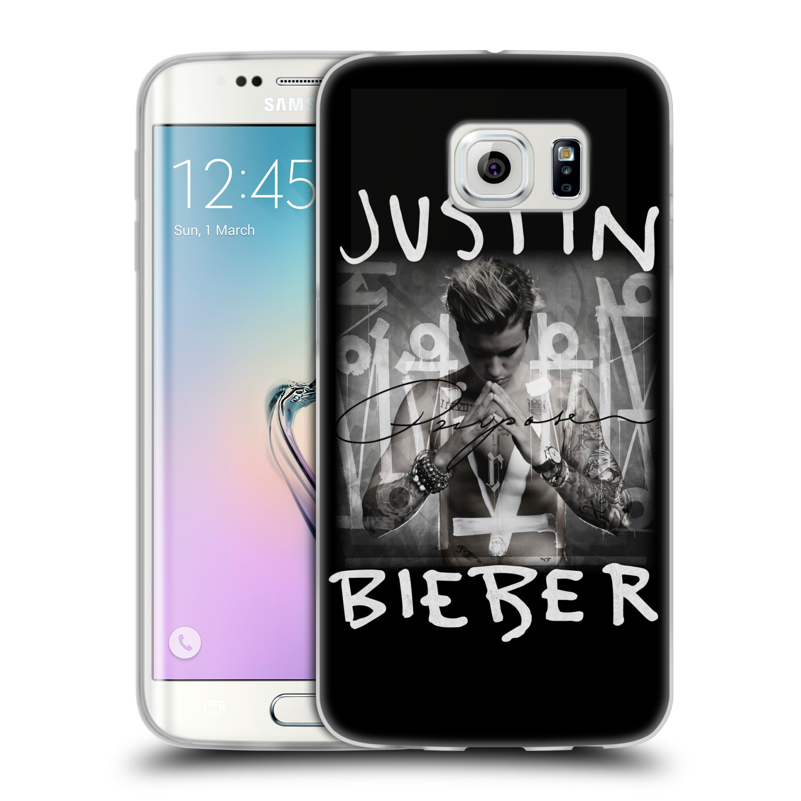 Silikonové pouzdro na mobil Samsung Galaxy S6 Edge HEAD CASE Justin Bieber Official - Purpose