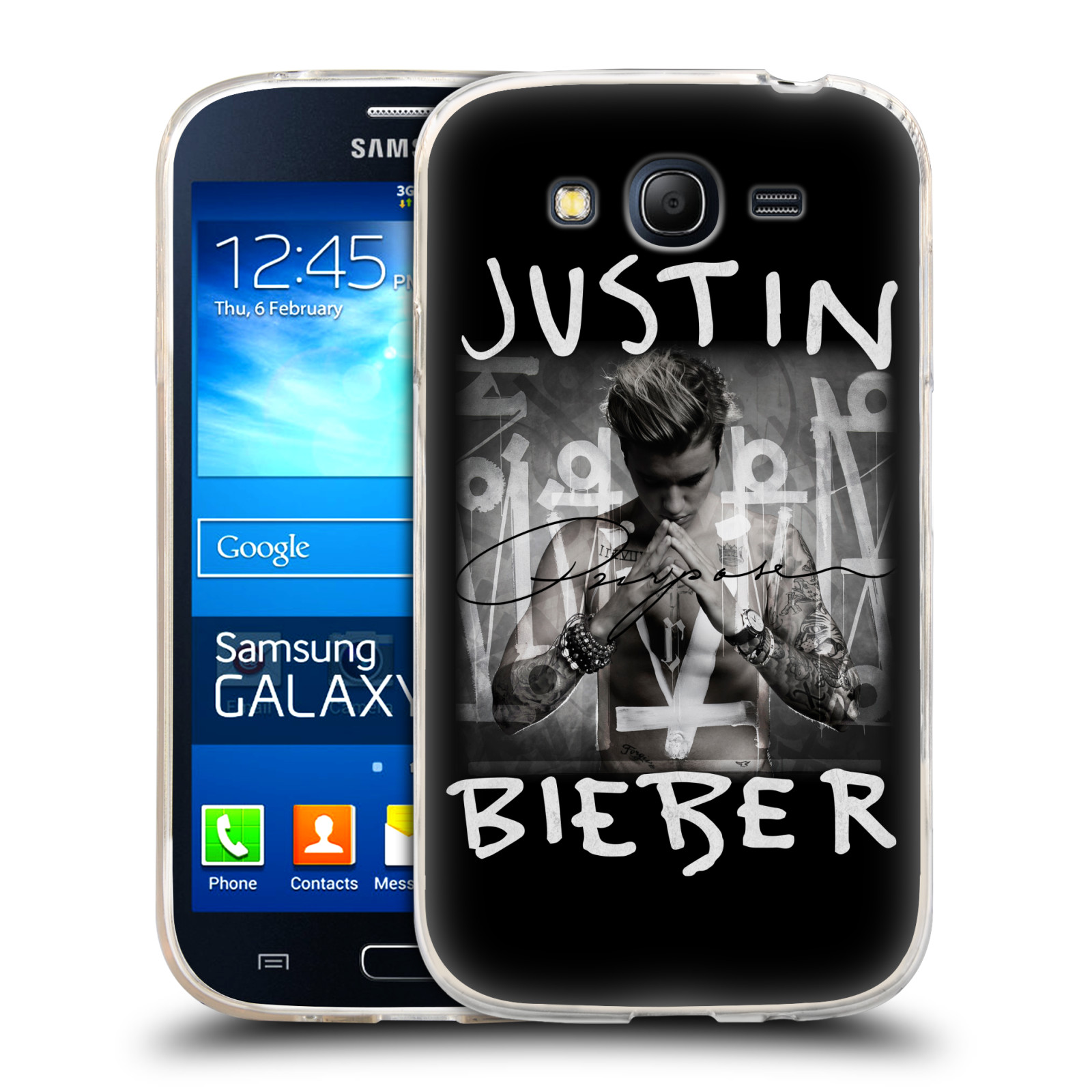 Silikonové pouzdro na mobil Samsung Galaxy Grand Neo HEAD CASE Justin Bieber Official - Purpose (Silikonový kryt či obal na mobilní telefon s licencovaným motivem Justin Bieber pro Samsung Galaxy Grand Neo GT-I9060)