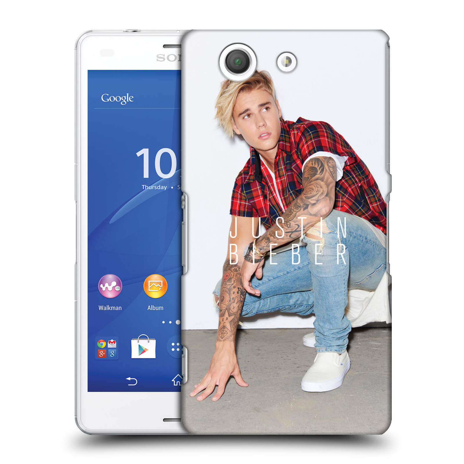 Plastové pouzdro na mobil Sony Xperia Z3 Compact D5803 HEAD CASE Justin Bieber Official - V pokleku