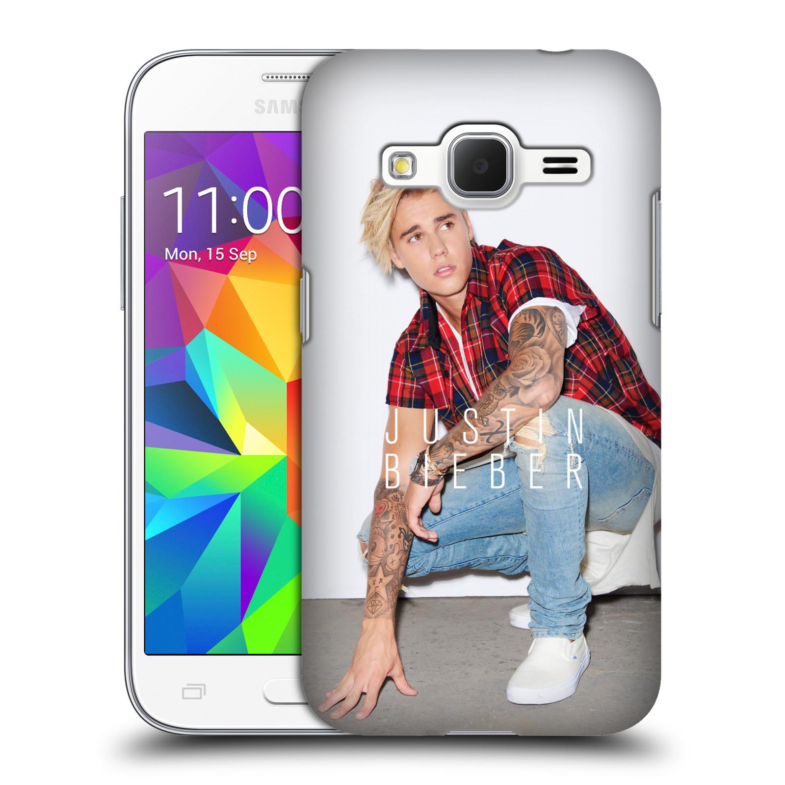 Plastové pouzdro na mobil Samsung Galaxy Core Prime VE HEAD CASE Justin Bieber Official - V pokleku