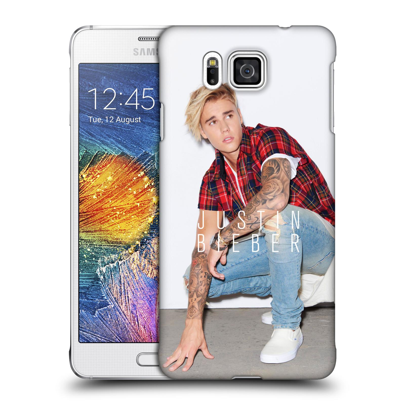 Plastové pouzdro na mobil Samsung Galaxy Alpha HEAD CASE Justin Bieber Official - V pokleku