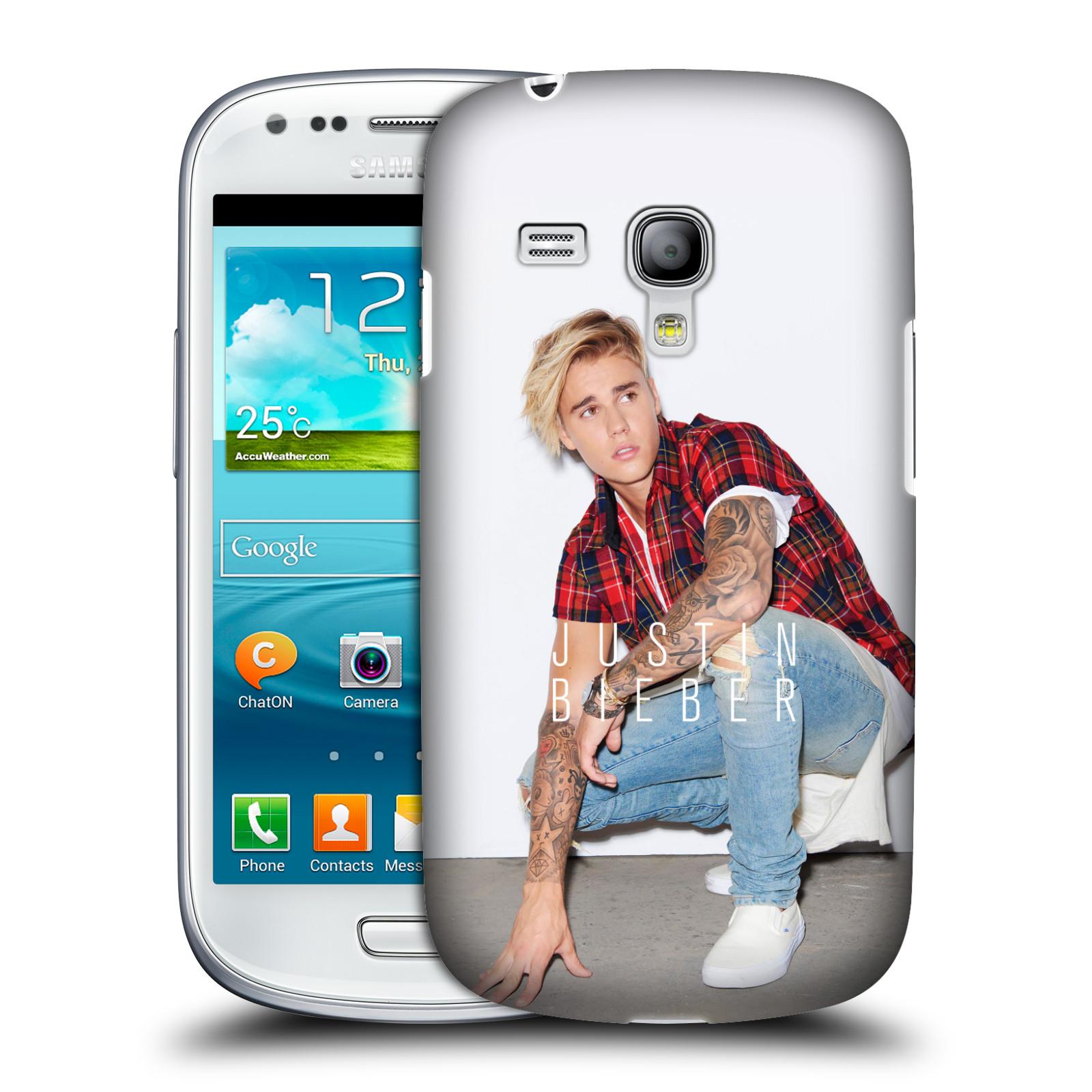 Plastové pouzdro na mobil Samsung Galaxy S III Mini VE HEAD CASE Justin Bieber Official - V pokleku (Kryt či obal na mobilní telefon s licencovaným motivem Justin Bieber pro Samsung Galaxy S3 Mini VE GT-i8200)