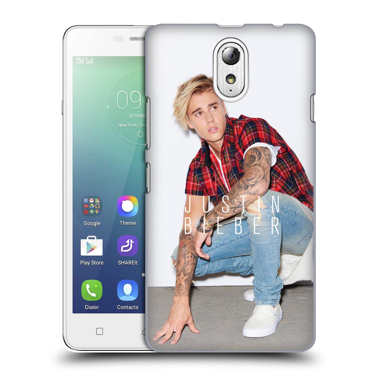 Plastové pouzdro na mobil Lenovo Vibe P1m HEAD CASE Justin Bieber ficial V pokleku