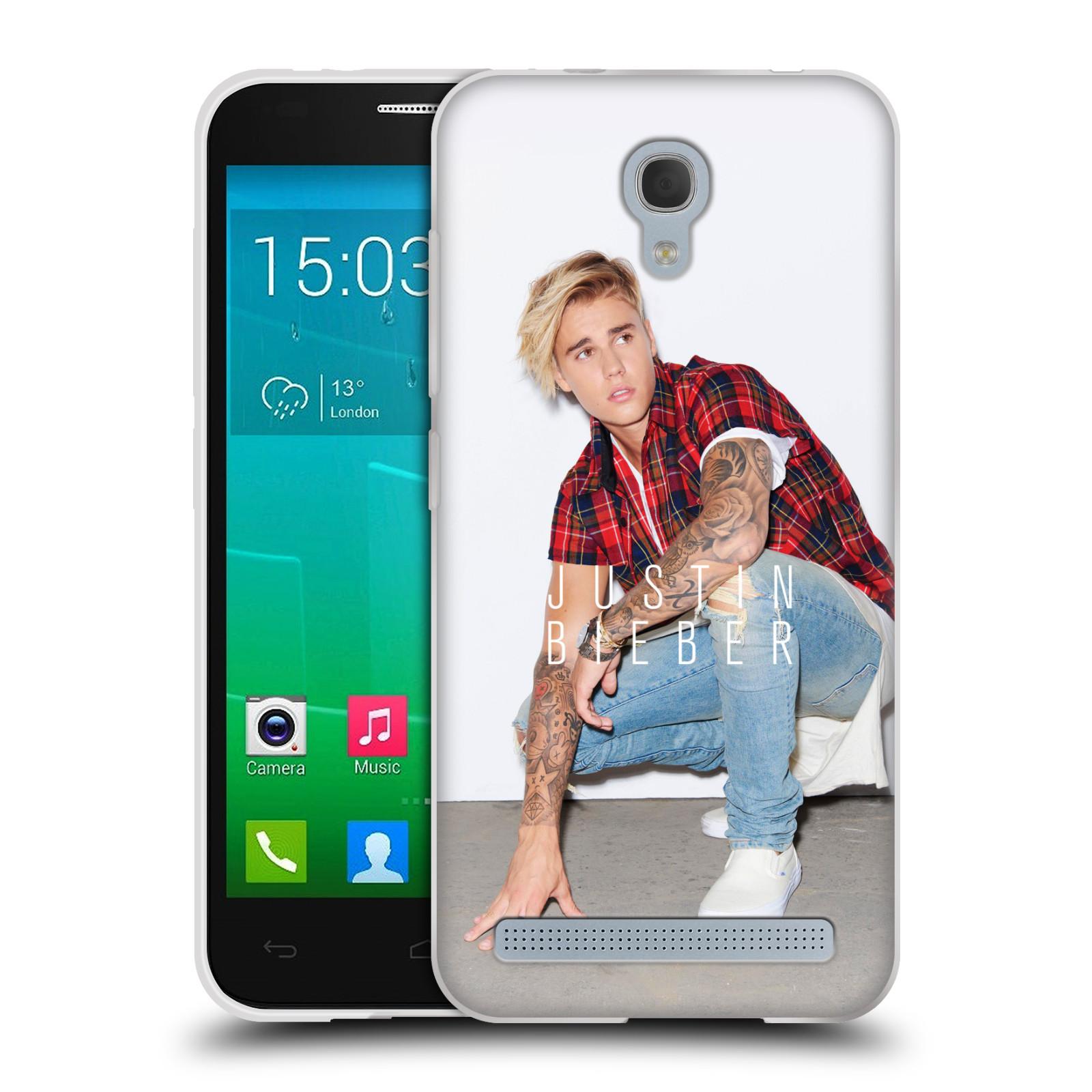Silikonové pouzdro na mobil Alcatel One Touch Idol 2 Mini S 6036Y HEAD CASE Justin Bieber Official - V pokleku (Silikonový kryt či obal na mobilní telefon s licencovaným motivem Justin Bieber pro Alcatel Idol 2 Mini S OT-6036Y)