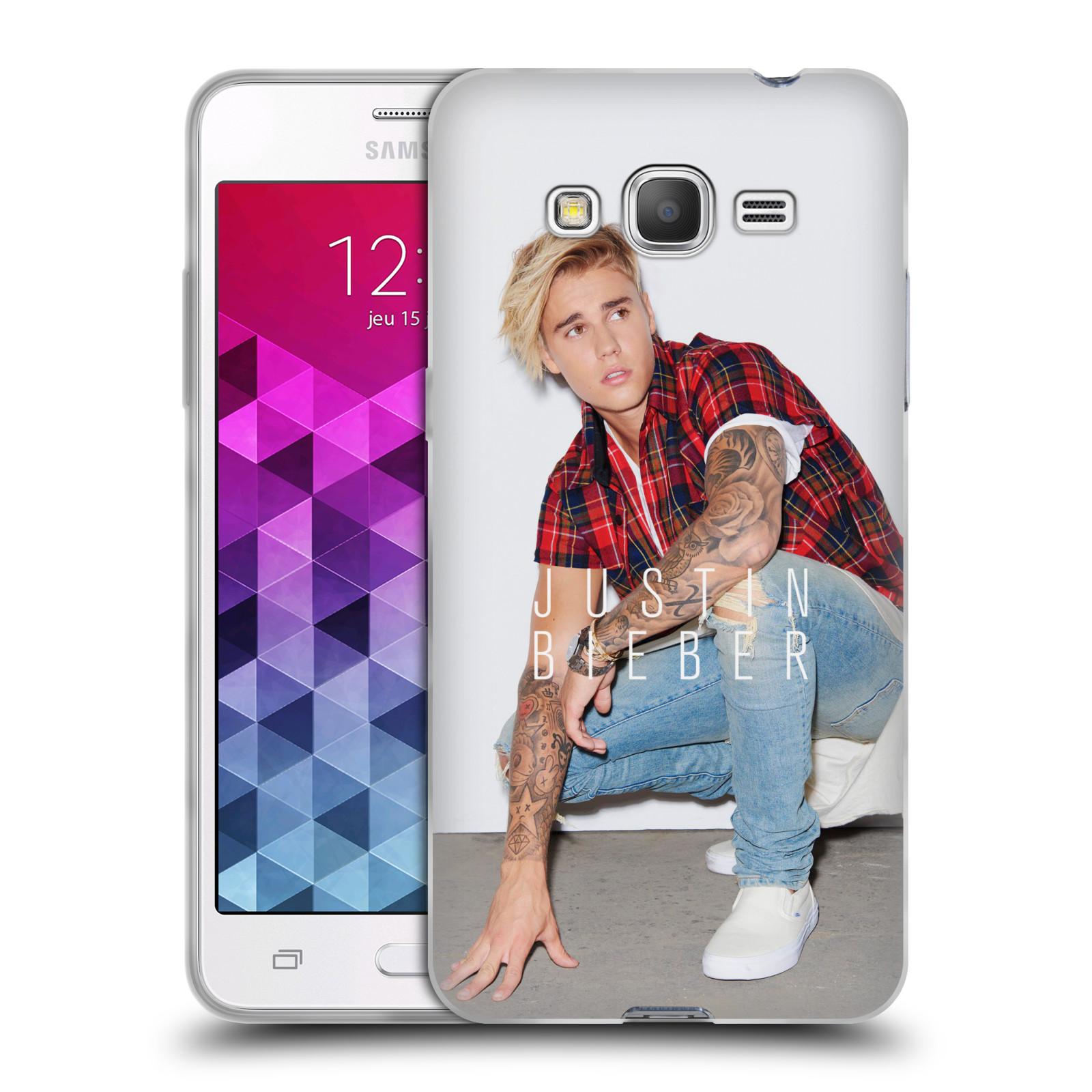 Silikonové pouzdro na mobil Samsung Galaxy Grand Prime HEAD CASE Justin Bieber Official - V pokleku