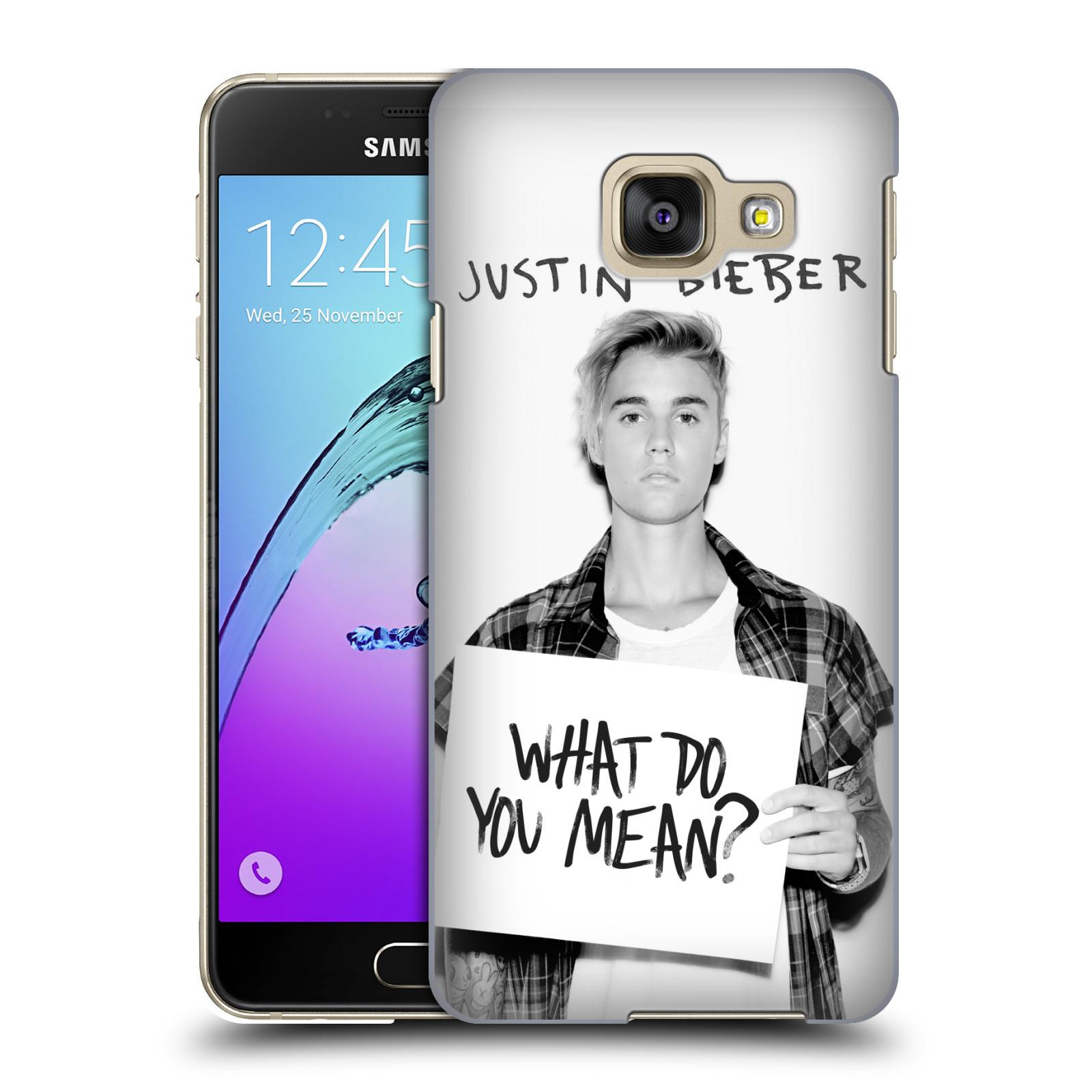 Plastové pouzdro na mobil Samsung Galaxy A3 (2016) HEAD CASE Justin Bieber Official - What do you mean ?
