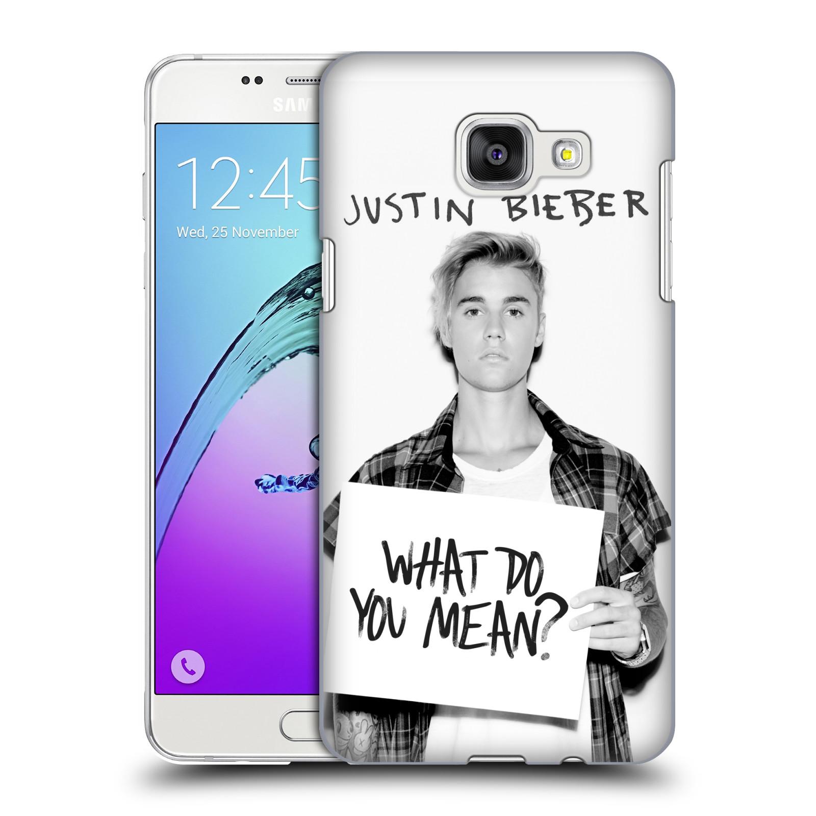 Plastové pouzdro na mobil Samsung Galaxy A5 (2016) HEAD CASE Justin Bieber Official - What do you mean ?
