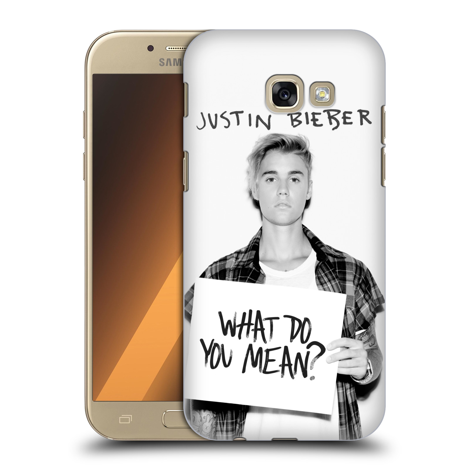 Plastové pouzdro na mobil Samsung Galaxy A5 (2017) HEAD CASE Justin Bieber Official - What do you mean ?