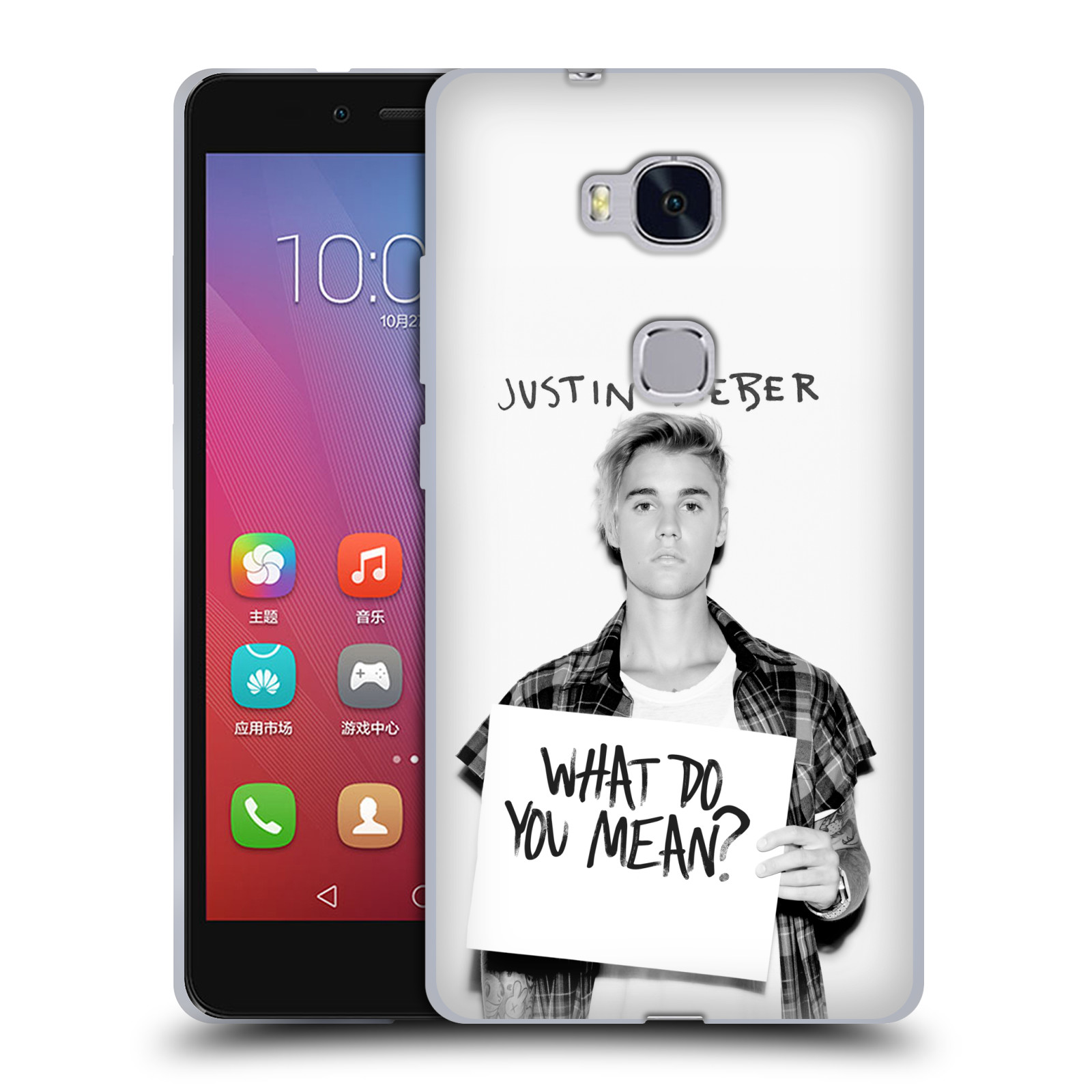 Silikonové pouzdro na mobil Honor 5X HEAD CASE Justin Bieber Official - What do you mean ?