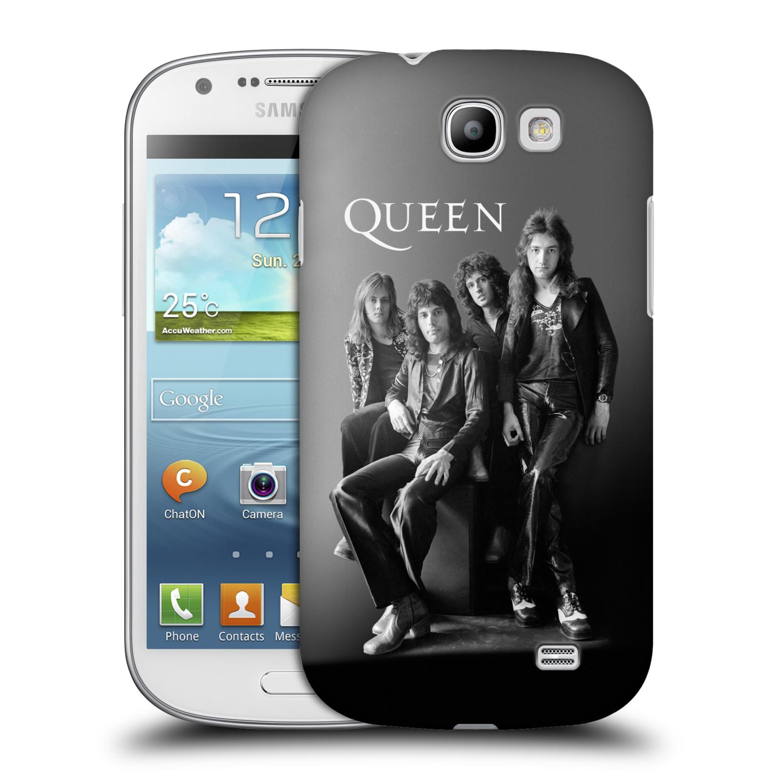 Plastové pouzdro na mobil Samsung Galaxy Express HEAD CASE Queen - Skupina (Plastový kryt či obal na mobilní telefon licencovaným motivem Queen pro Samsung Galaxy Express GT-i8730)