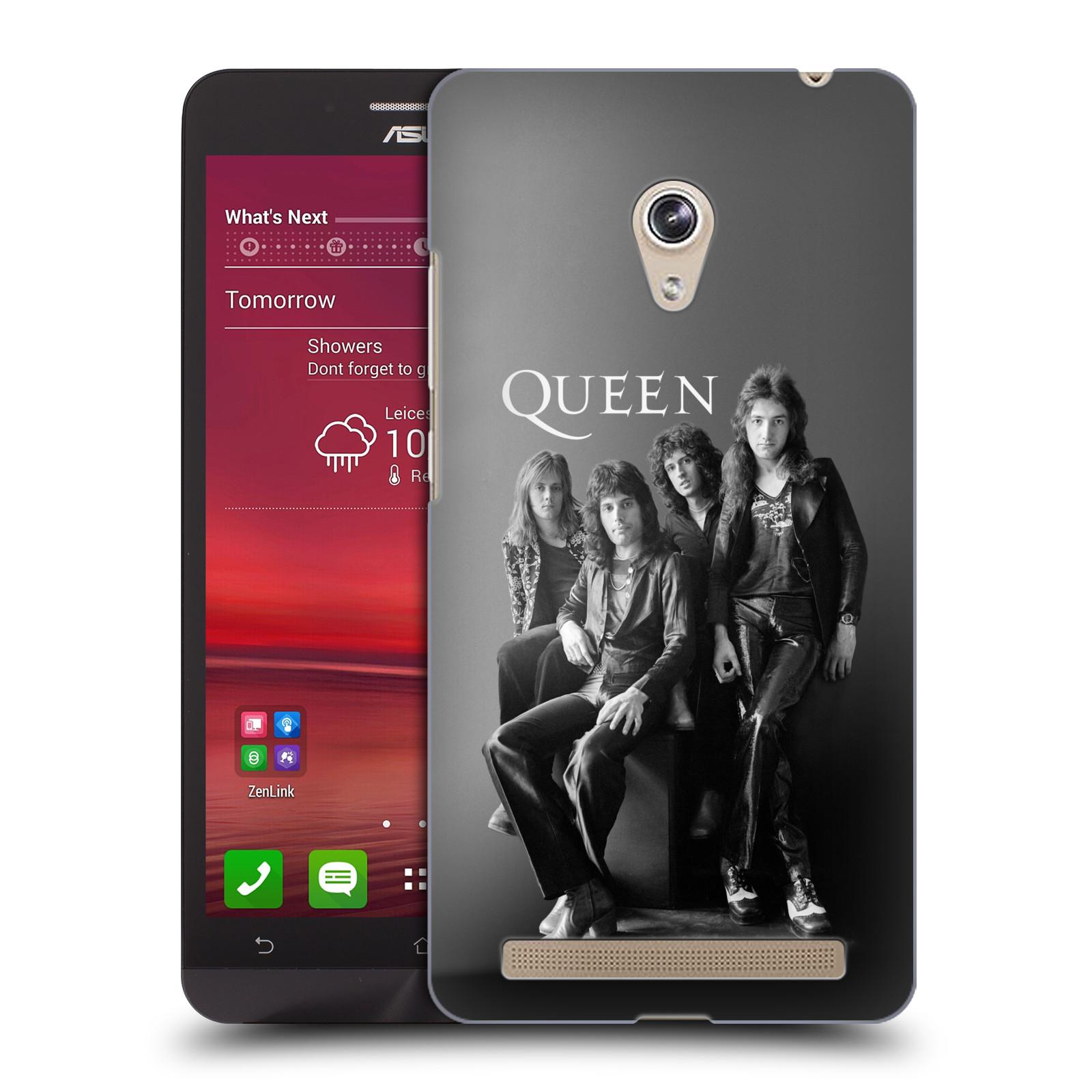 Plastové pouzdro na mobil Asus Zenfone 6 HEAD CASE Queen - Skupina (Plastový kryt či obal na mobilní telefon licencovaným motivem Queen pro Asus Zenfone 6 A600CG / A601CG)