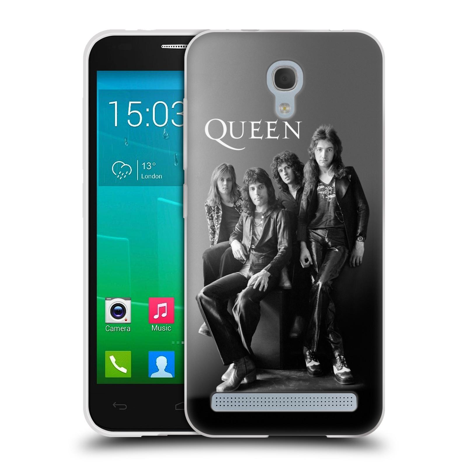 Silikonové pouzdro na mobil Alcatel One Touch Idol 2 Mini S 6036Y HEAD CASE Queen - Skupina (Silikonový kryt či obal na mobilní telefon licencovaným motivem Queen pro Alcatel Idol 2 Mini S OT-6036Y)
