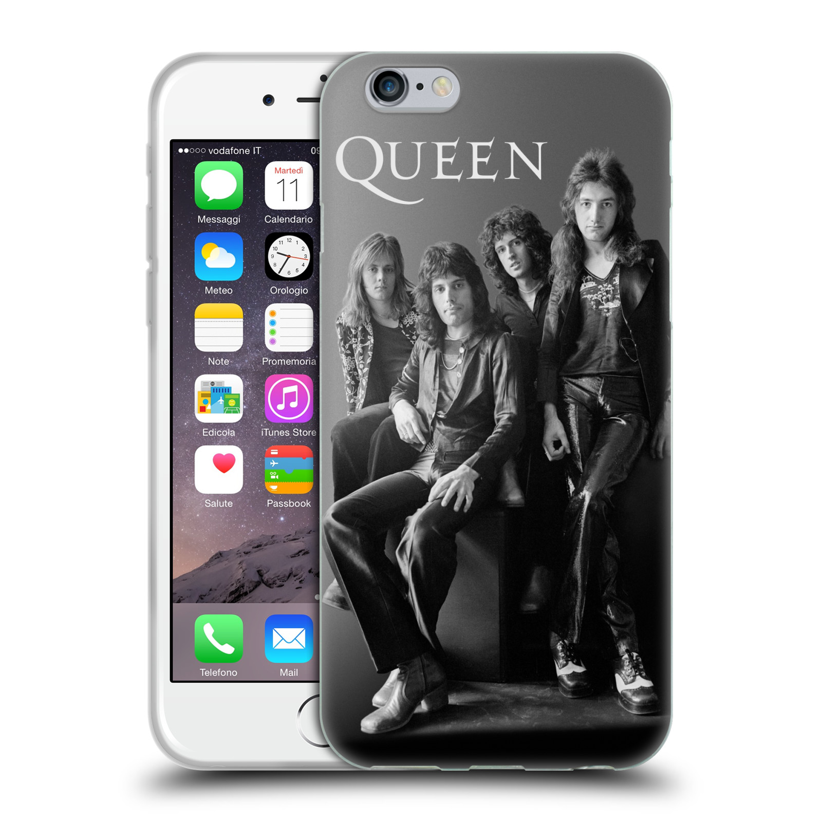 Silikonové pouzdro na mobil Apple iPhone 6 HEAD CASE Queen - Skupina