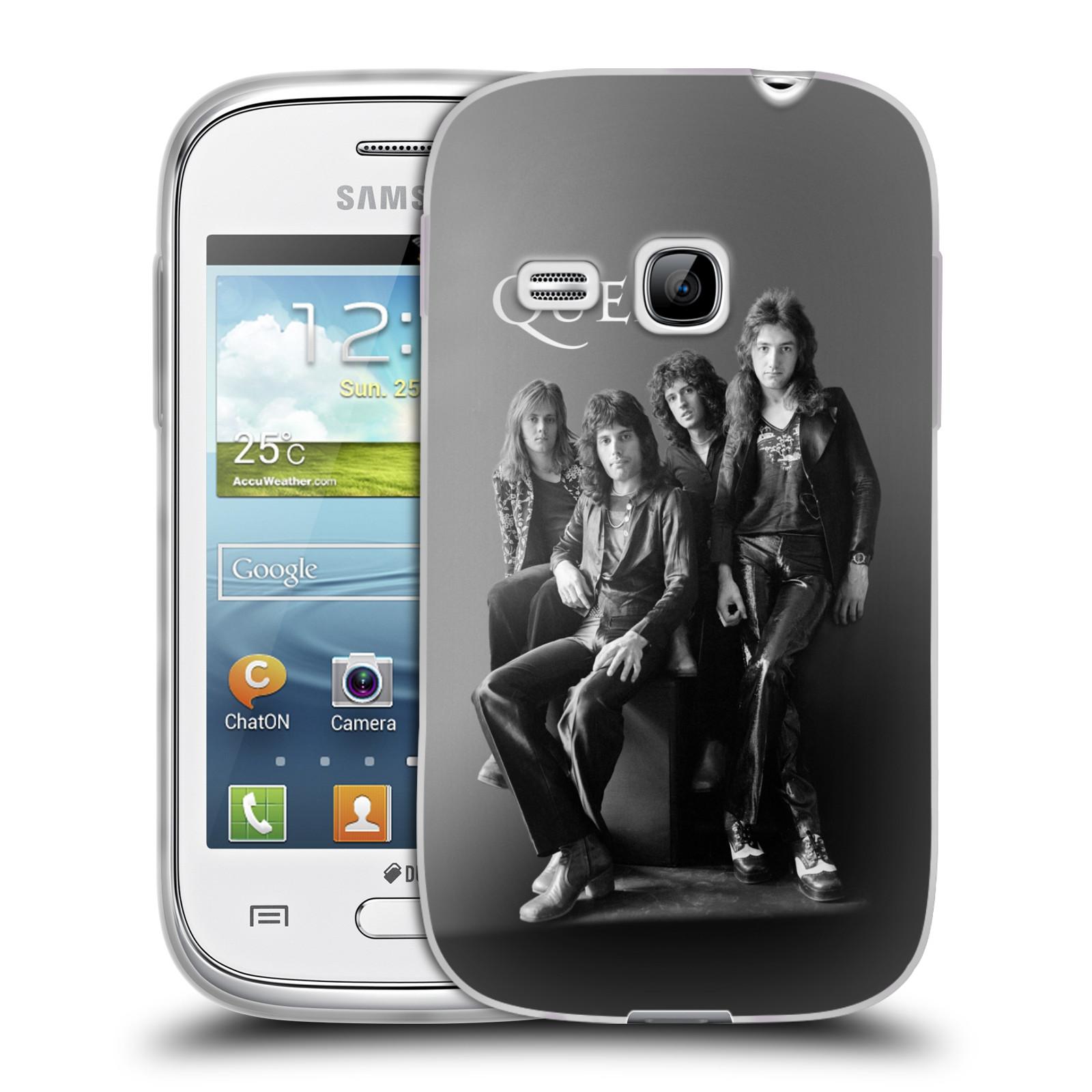 Silikonové pouzdro na mobil Samsung Galaxy Young HEAD CASE Queen - Skupina (Silikonový kryt či obal na mobilní telefon licencovaným motivem Queen pro Samsung Galaxy Young GT-S6310)