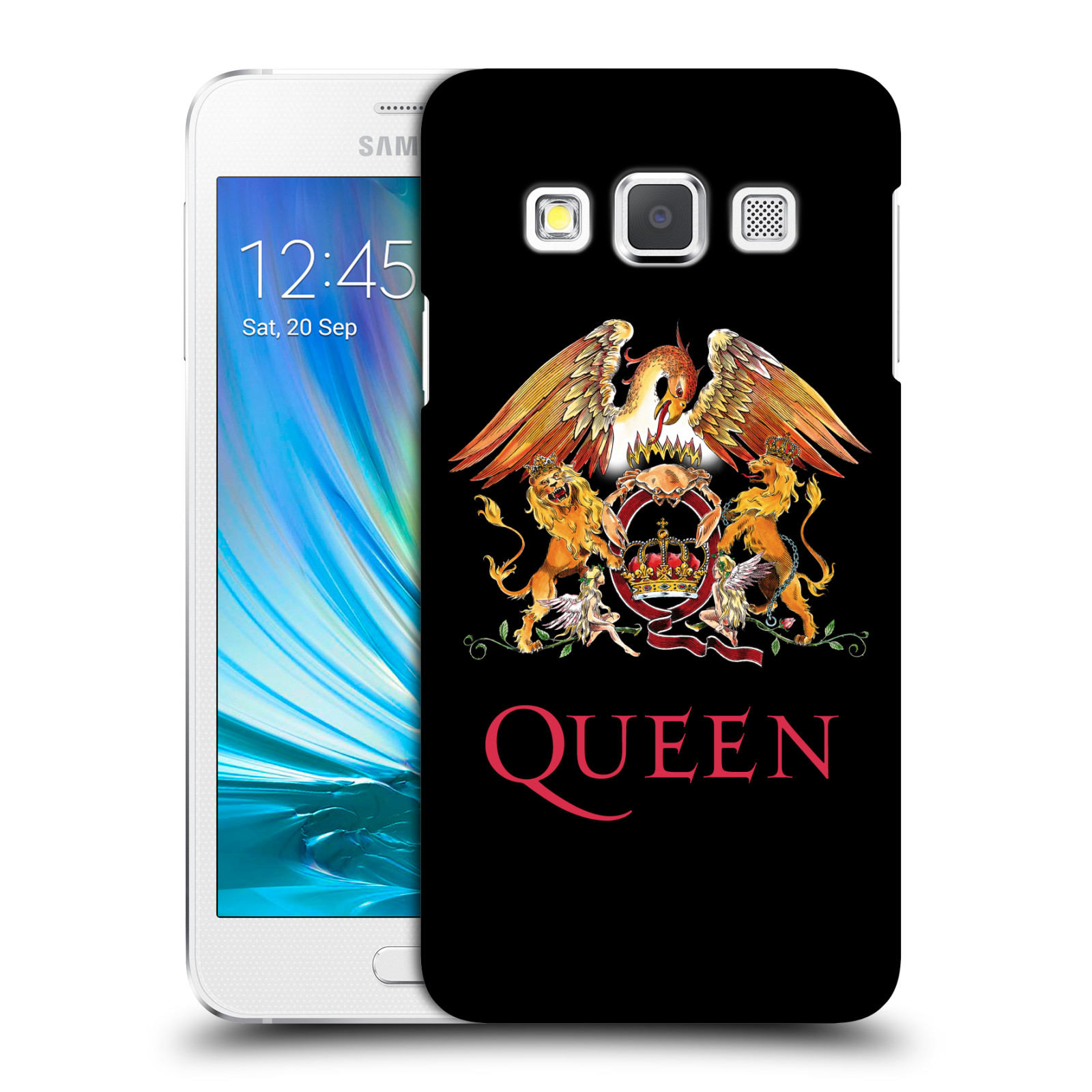 Plastové pouzdro na mobil Samsung Galaxy A3 HEAD CASE Queen - Logo