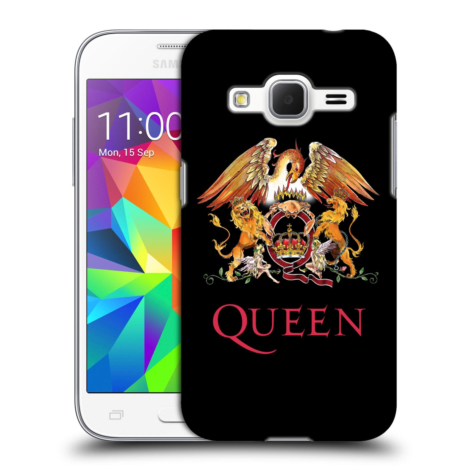 Plastové pouzdro na mobil Samsung Galaxy Core Prime VE HEAD CASE Queen - Logo