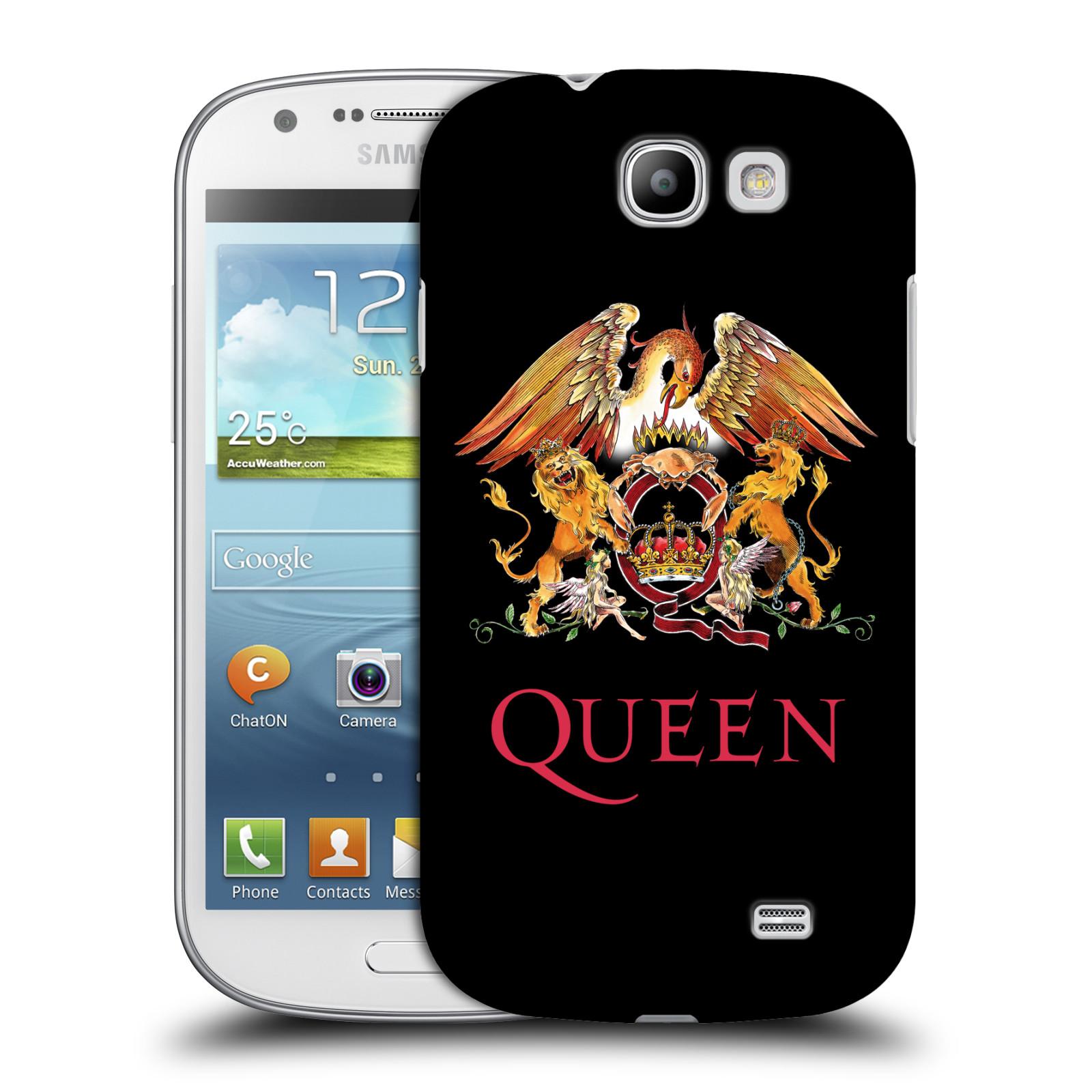 Plastové pouzdro na mobil Samsung Galaxy Express HEAD CASE Queen - Logo (Plastový kryt či obal na mobilní telefon licencovaným motivem Queen pro Samsung Galaxy Express GT-i8730)