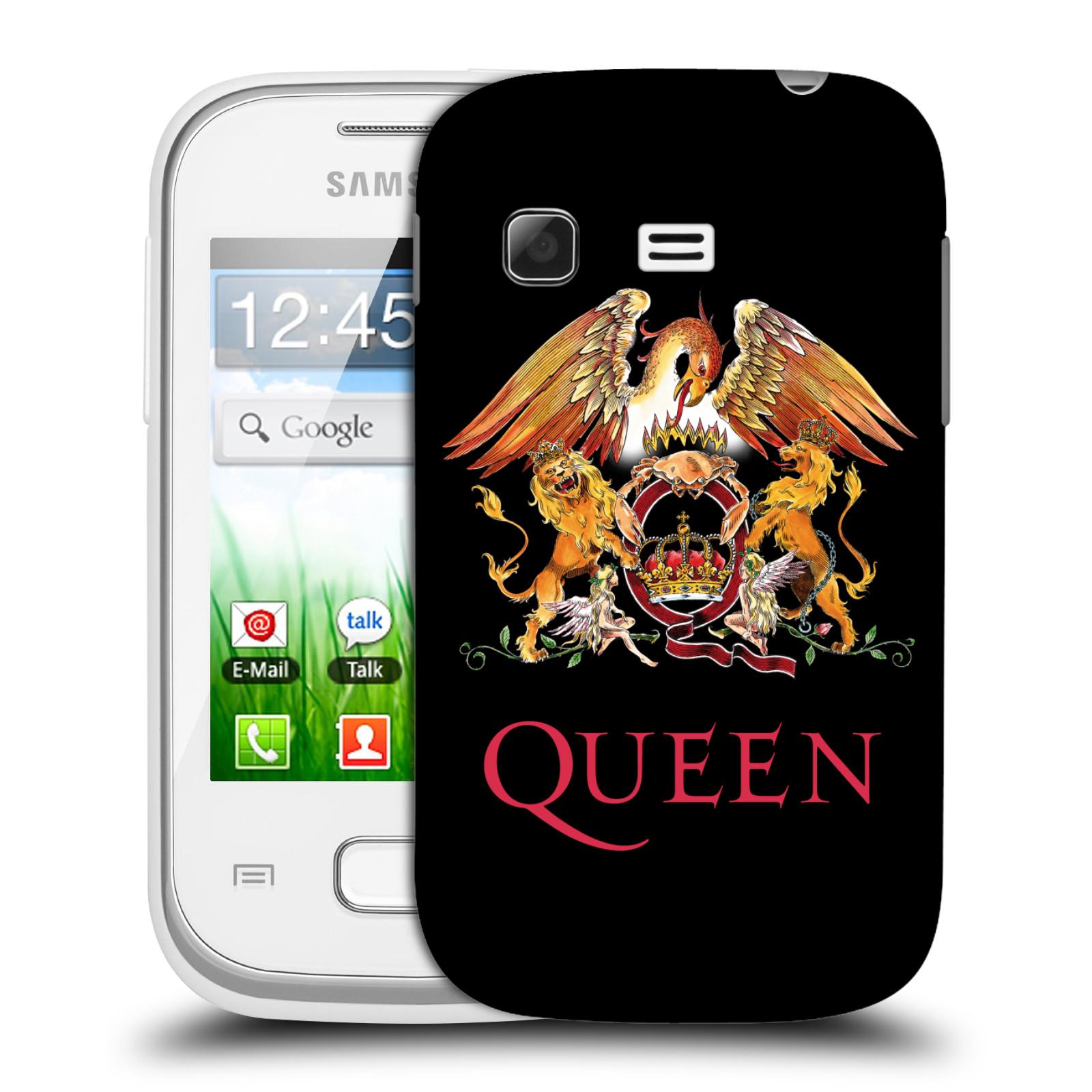 Plastové pouzdro na mobil Samsung Galaxy Pocket HEAD CASE Queen - Logo (Plastový kryt či obal na mobilní telefon licencovaným motivem Queen pro Samsung Galaxy Pocket GT-S5300)