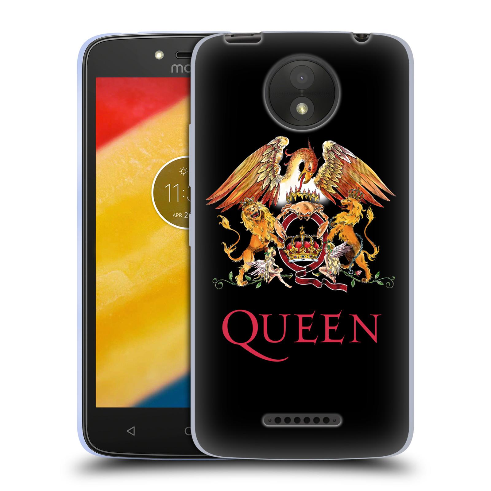 Silikonové pouzdro na mobil Lenovo Moto C Plus - Head Case - Queen - Logo