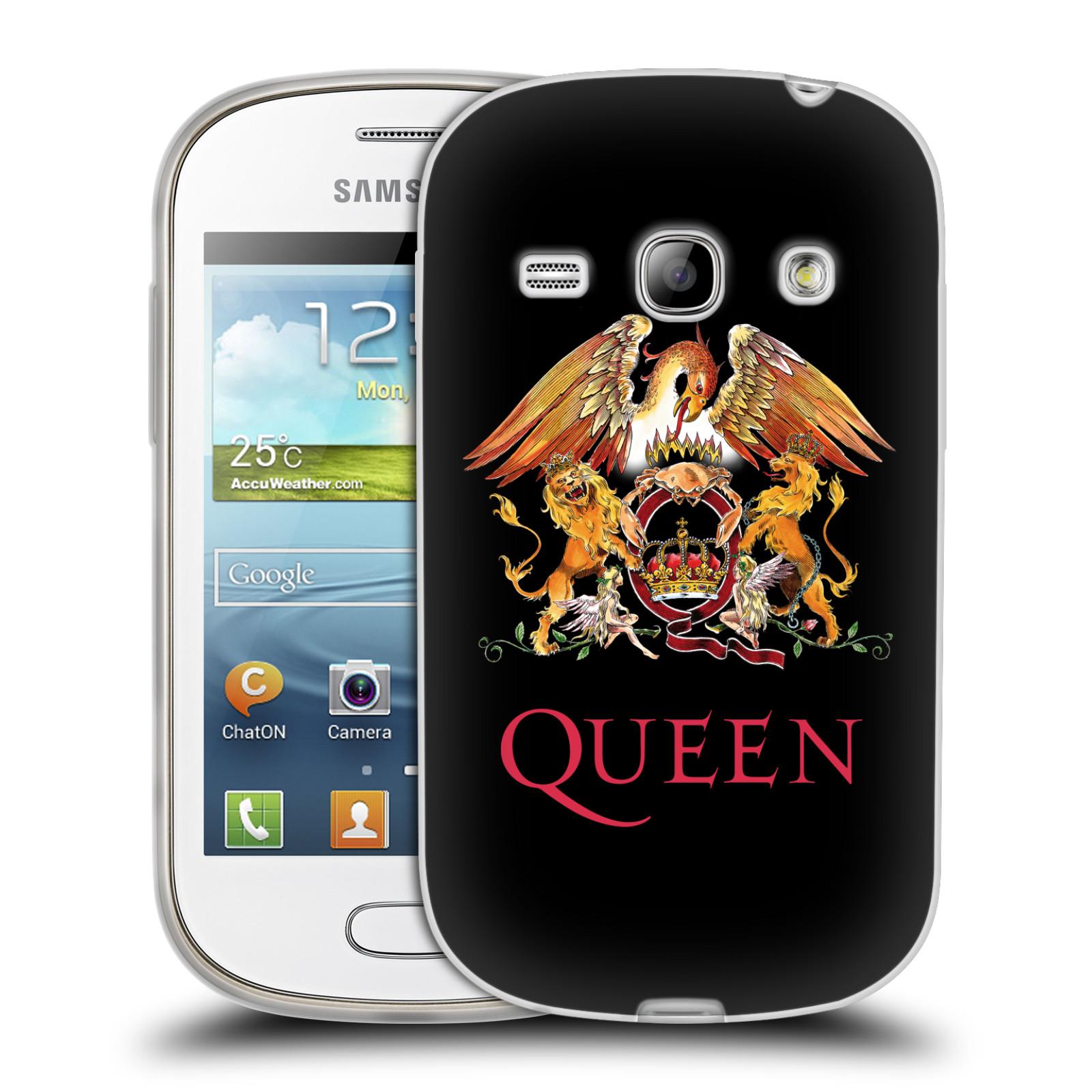Silikonové pouzdro na mobil Samsung Galaxy Fame HEAD CASE Queen - Logo (Silikonový kryt či obal na mobilní telefon licencovaným motivem Queen pro Samsung Galaxy Fame GT-S6810)