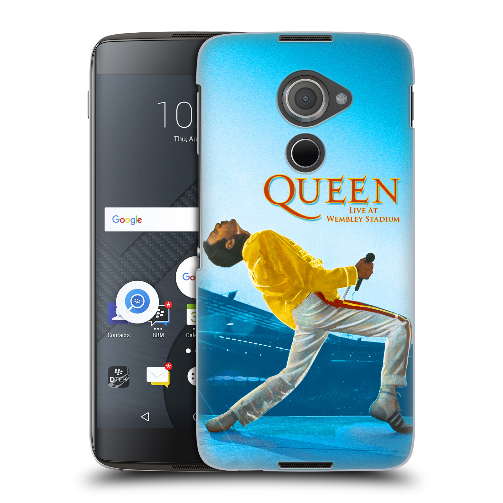 Plastové pouzdro na mobil Blackberry DTEK60 (Argon) - Head Case Queen - Freddie Mercury