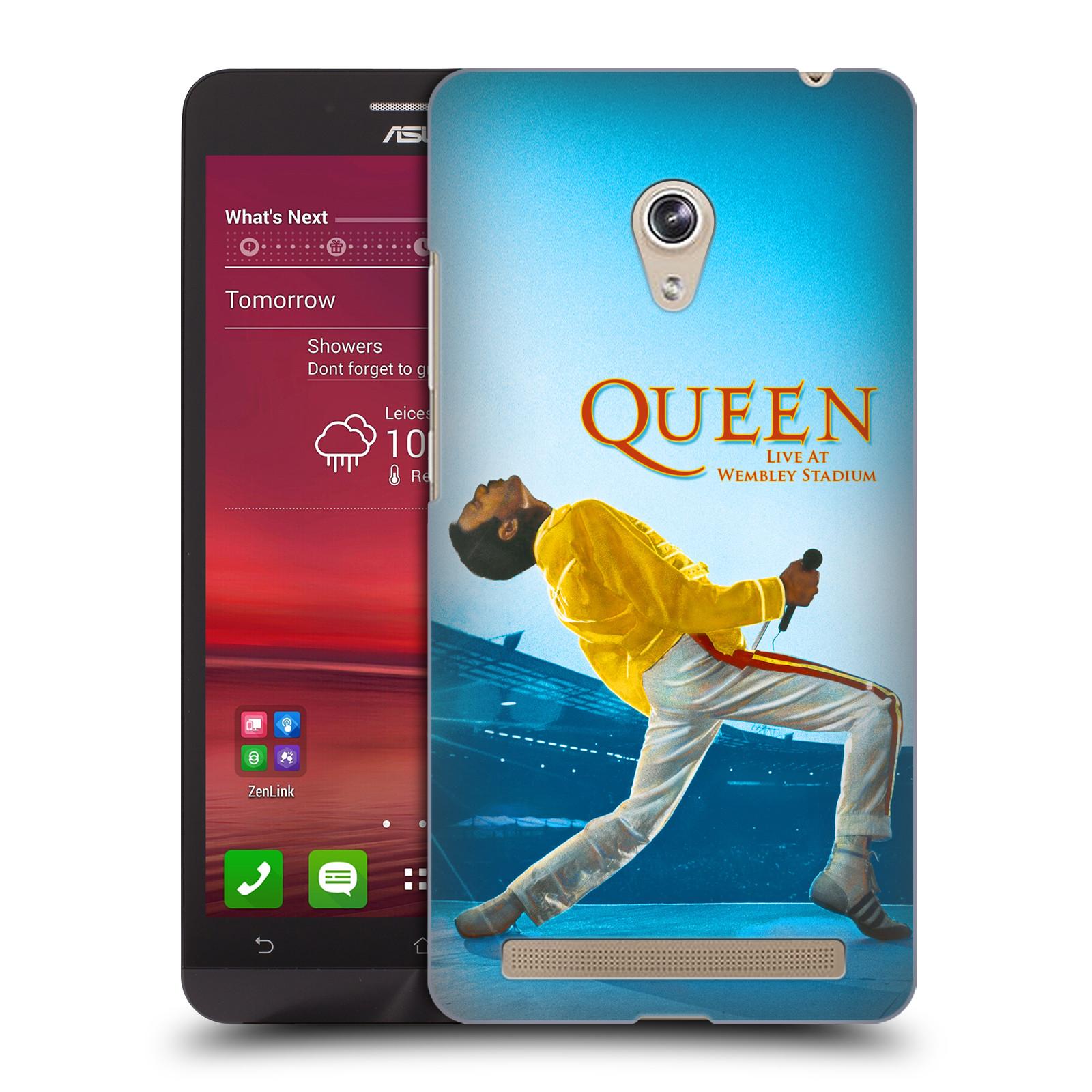 Plastové pouzdro na mobil Asus Zenfone 6 HEAD CASE Queen - Freddie Mercury (Plastový kryt či obal na mobilní telefon licencovaným motivem Queen pro Asus Zenfone 6 A600CG / A601CG)