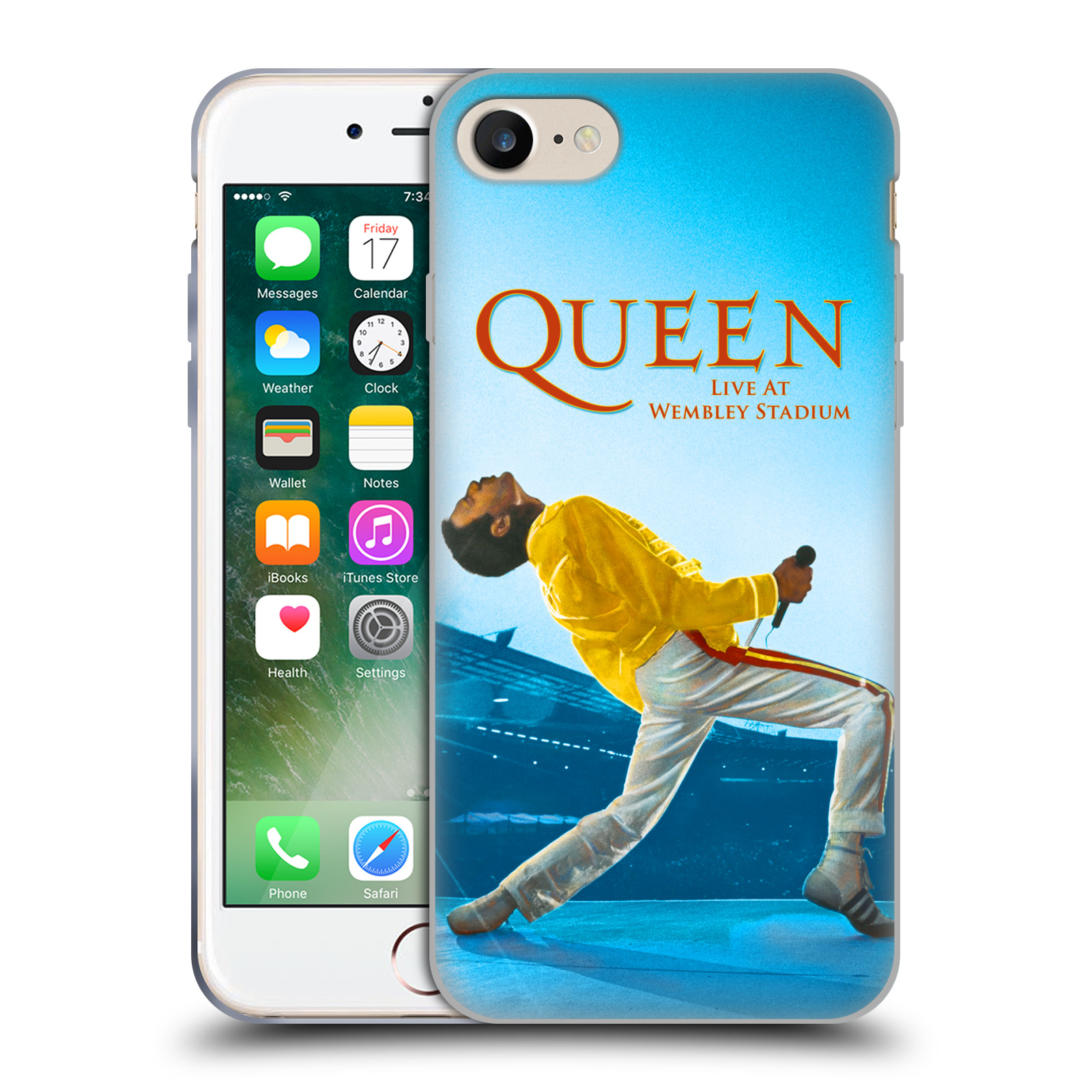 Silikonové pouzdro na mobil Apple iPhone 7 HEAD CASE Queen - Freddie Mercury - ROZBALENO
