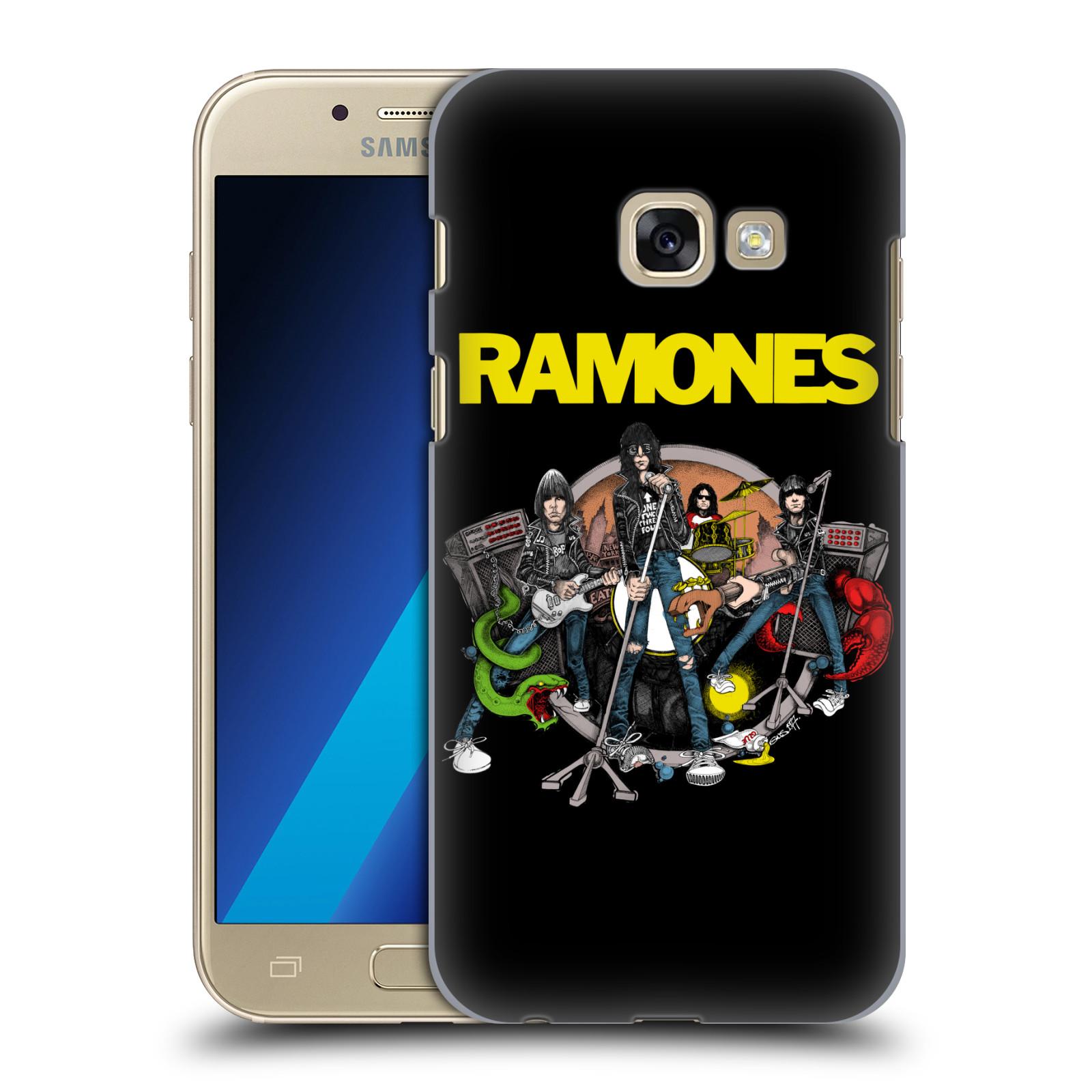 Plastové pouzdro na mobil Samsung Galaxy A3 (2017) HEAD CASE The Ramones - ILUSTRACE KAPELY