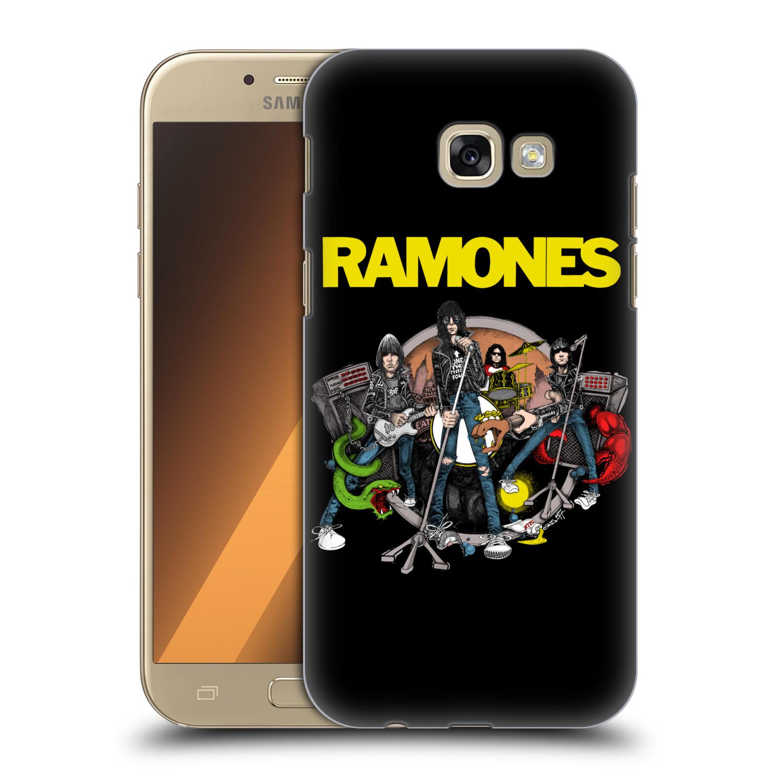 Plastové pouzdro na mobil Samsung Galaxy A5 (2017) HEAD CASE The Ramones - ILUSTRACE KAPELY