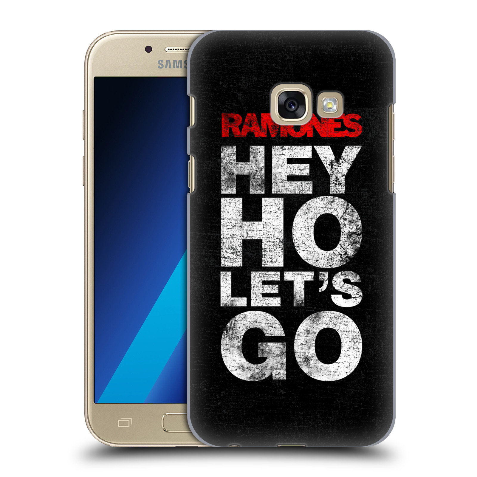 Plastové pouzdro na mobil Samsung Galaxy A3 (2017) HEAD CASE The Ramones - HEY HO LET´S GO