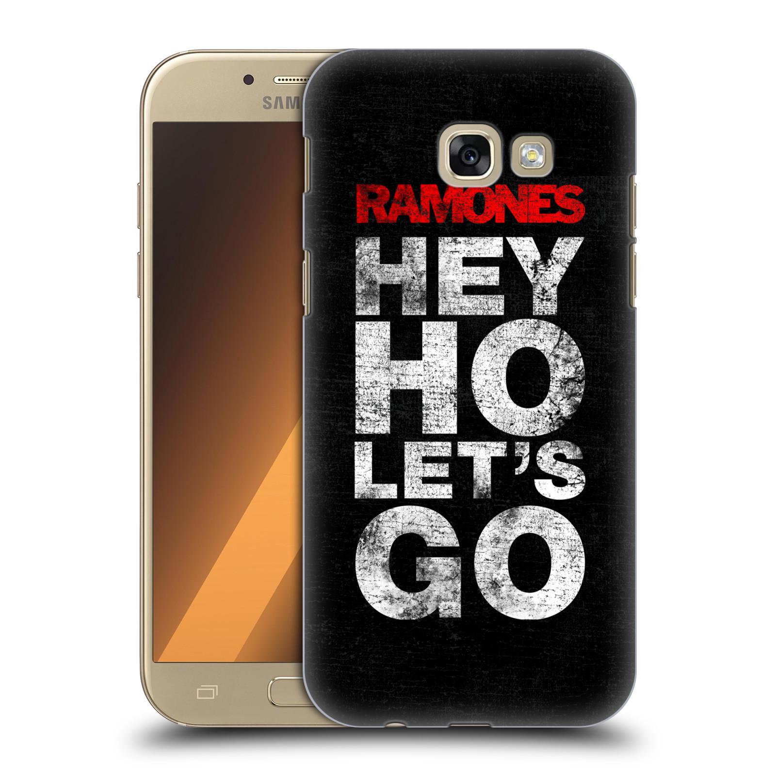 Plastové pouzdro na mobil Samsung Galaxy A5 (2017) HEAD CASE The Ramones - HEY HO LET´S GO