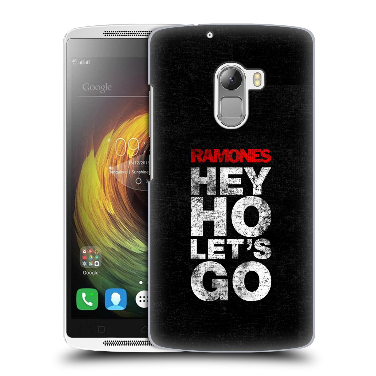 Plastové pouzdro na mobil Lenovo A7010 HEAD CASE The Ramones - HEY HO LET´S GO (Plastový kryt či obal na mobilní telefon s oficiálním licencovaným motivem The Ramones pro Lenovo A7010 Dual SIM / K4 Note / Vibe X3 Lite)