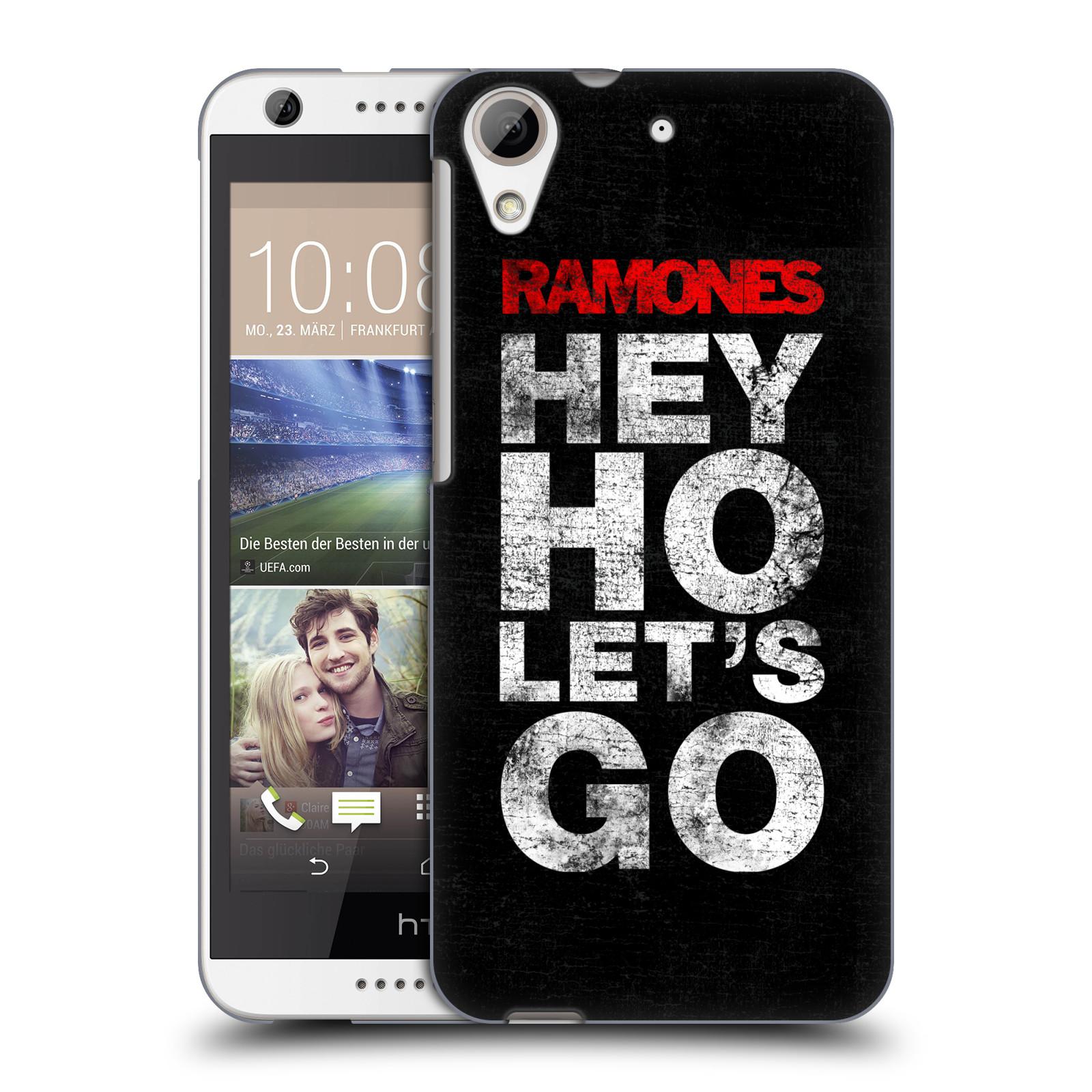 Plastové pouzdro na mobil HTC Desire 626 / 626G HEAD CASE The Ramones - HEY HO LET´S GO (Plastový kryt či obal na mobilní telefon s oficiálním licencovaným motivem The Ramones pro HTC Desire 626G Dual SIM a HTC Desire 626)